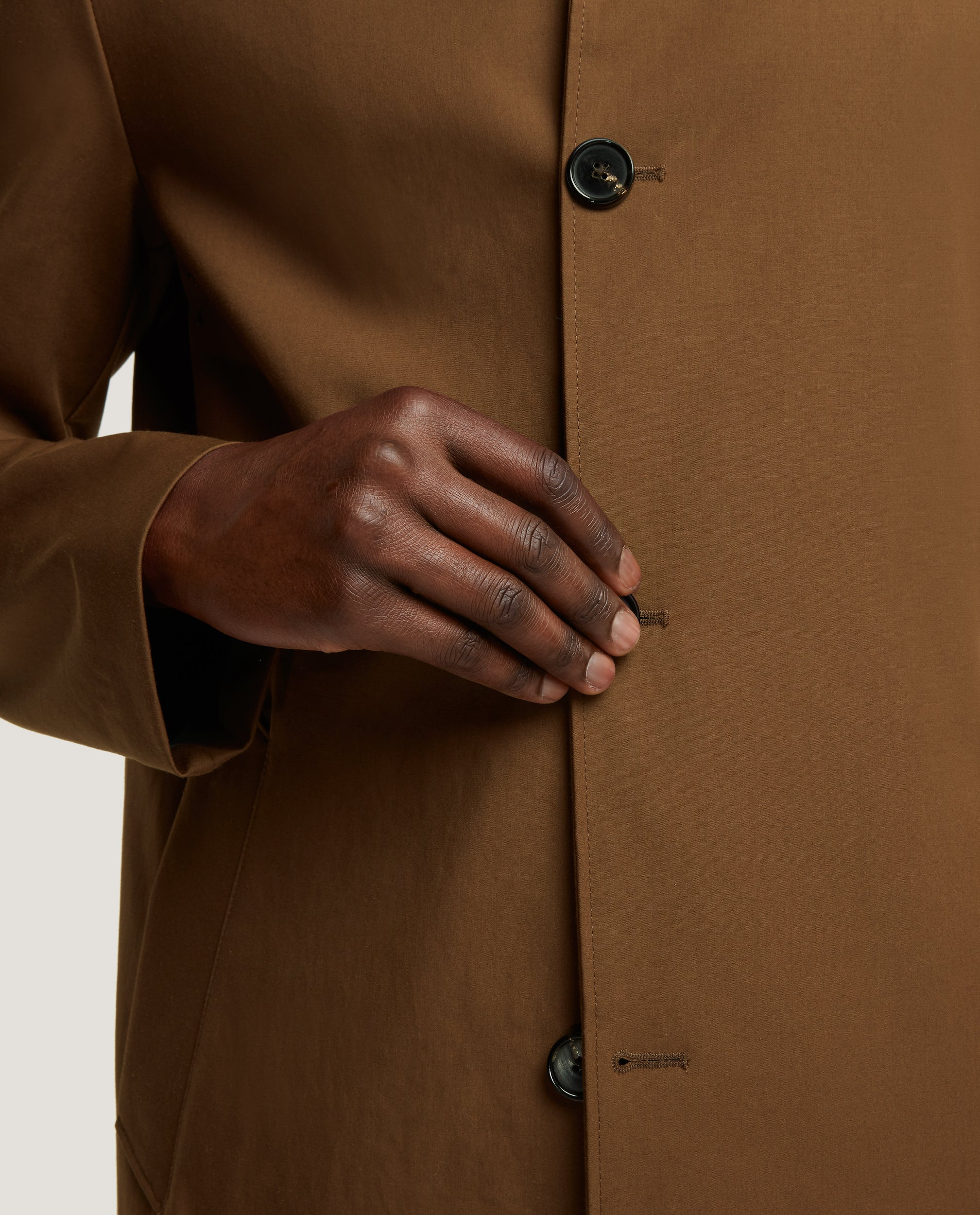 MATHYS Raincoat | Technical cotton | Brown