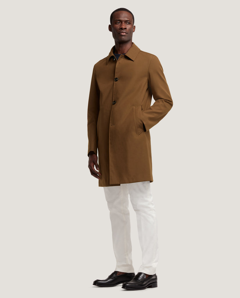 MATHYS Raincoat | Technical cotton | Brown by Salle Privée