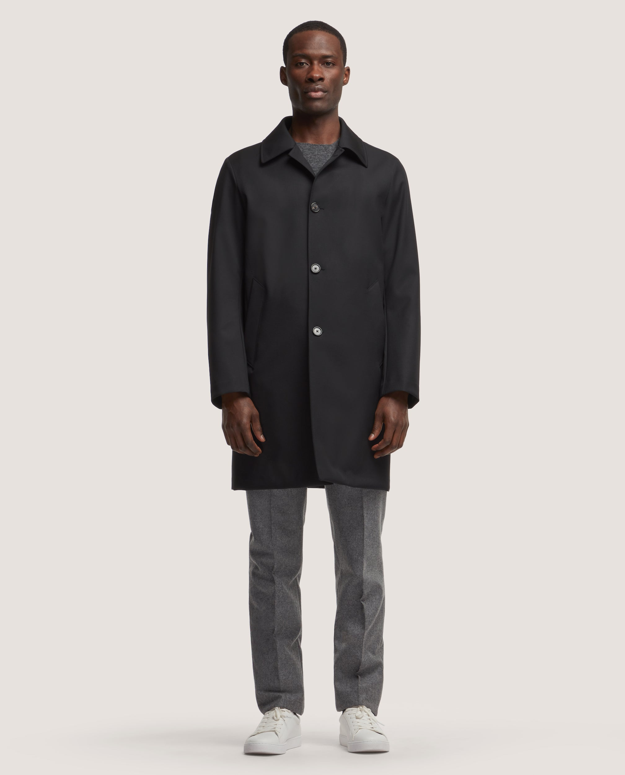 MATHYS Bonded Raincoat | Black