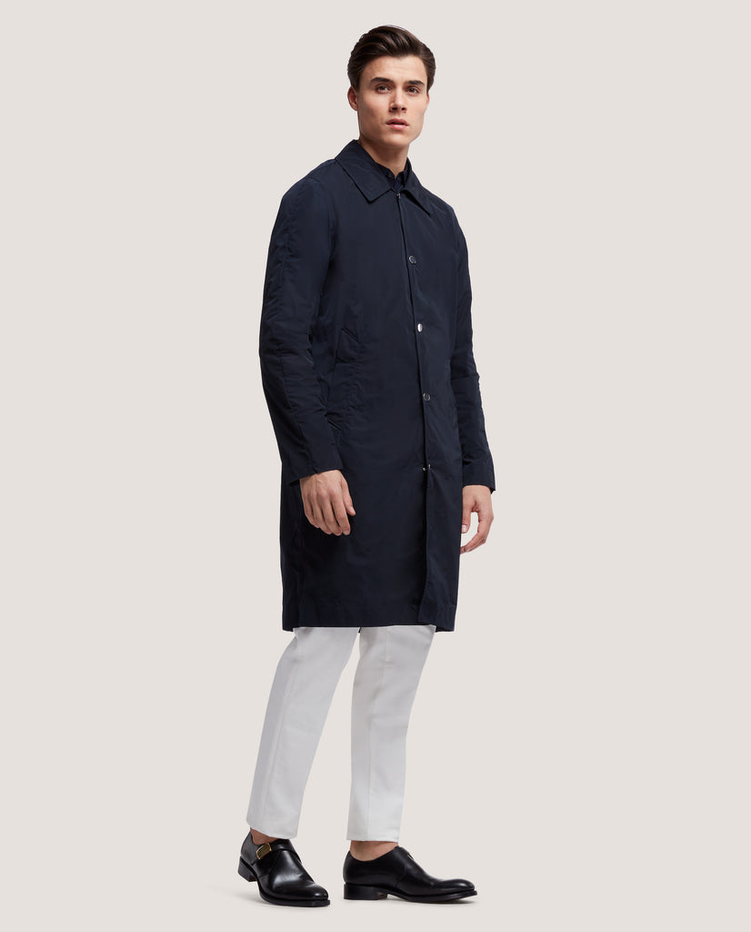 PIERRE Raincoat | Night Blue by Salle Privée
