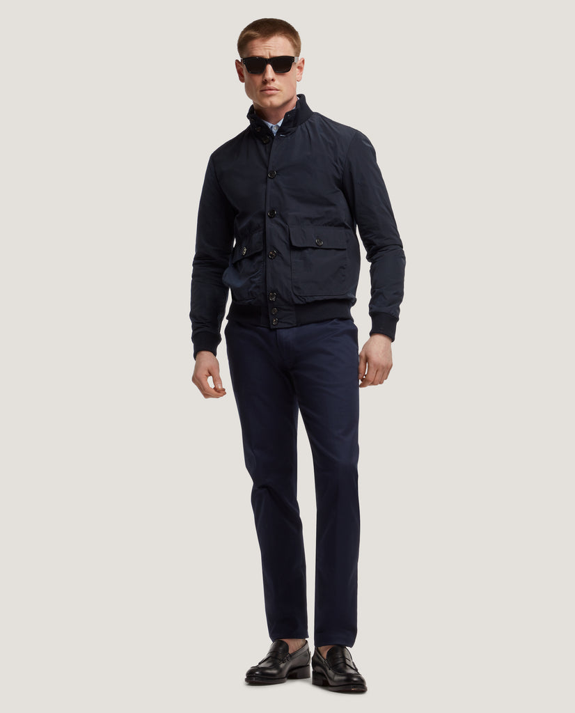 BOWIE Short jacket | Water-repellent | Night Blue by Salle Privée