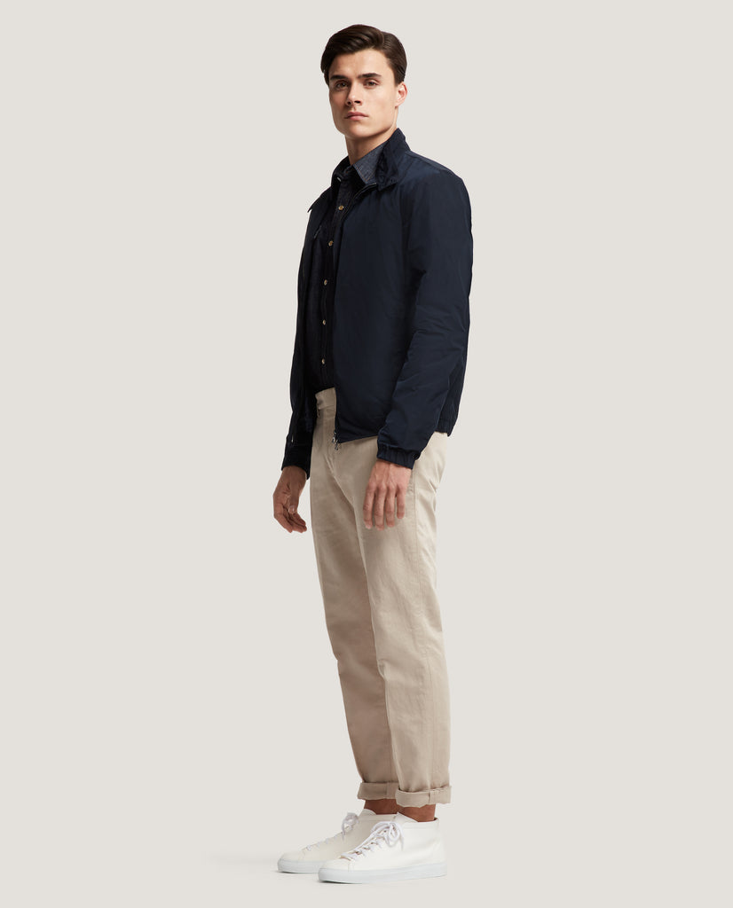 EWEN Harrington jacket | Water-repellent | Night Blue by Salle Privée