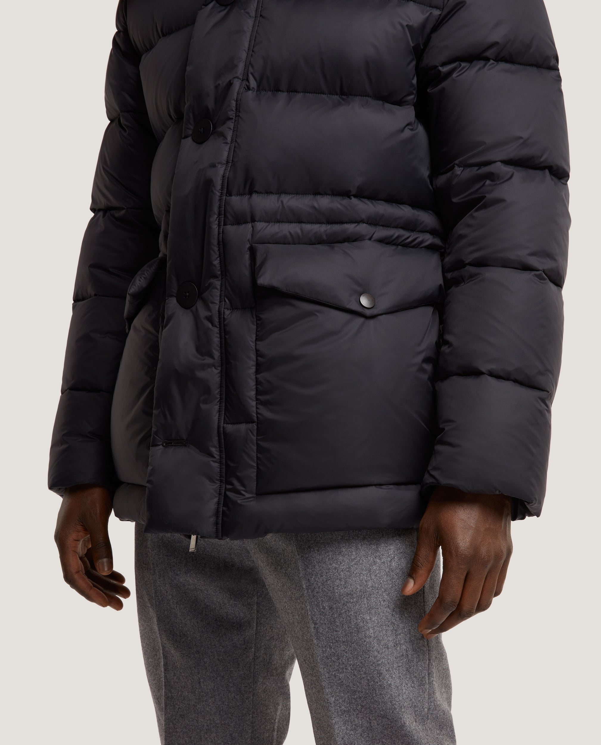 LARSE Hooded Down Parka | Quilted Shell