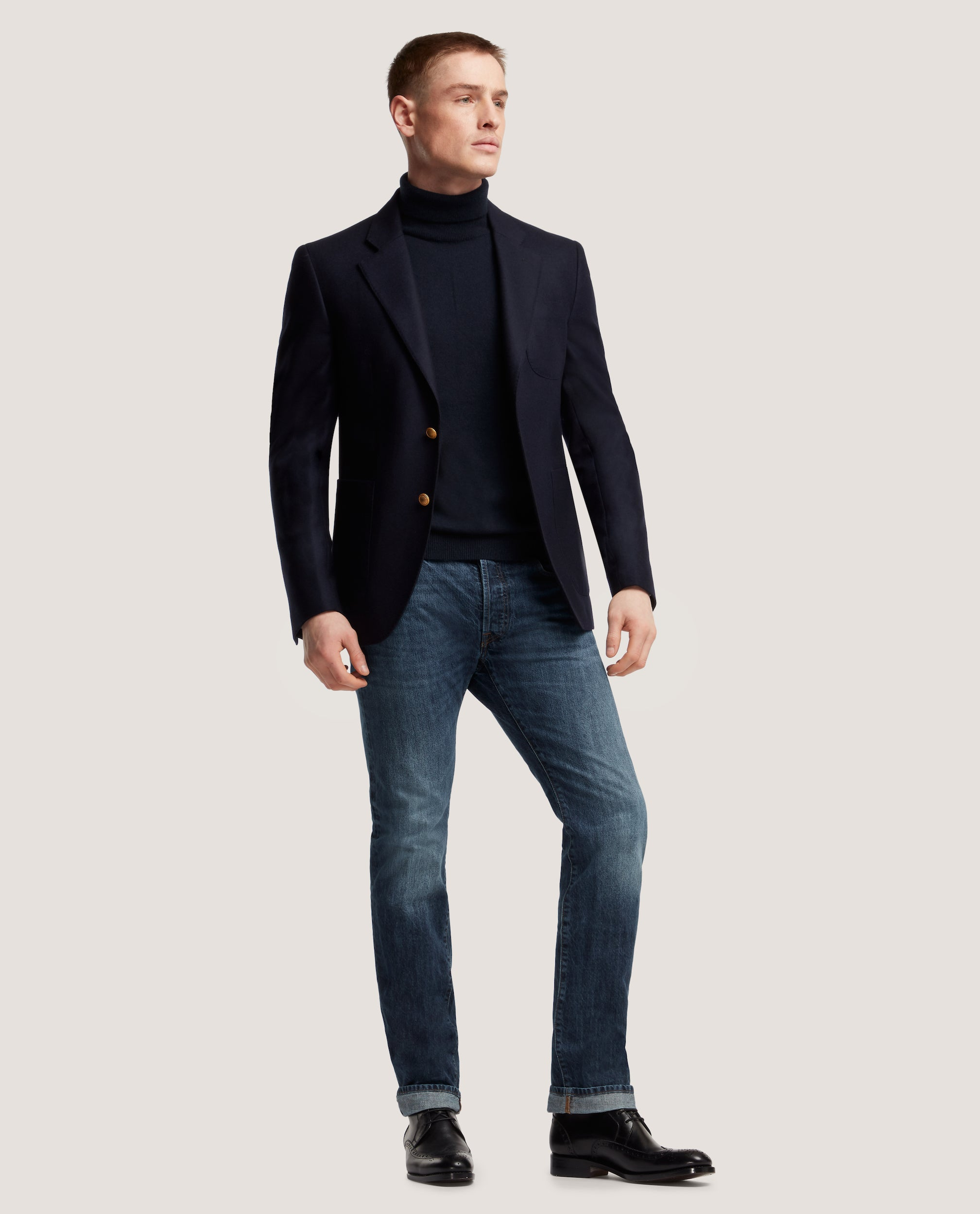 HAVRE HALF LINED BLAZER | WOOL FLANNEL by Salle Privée