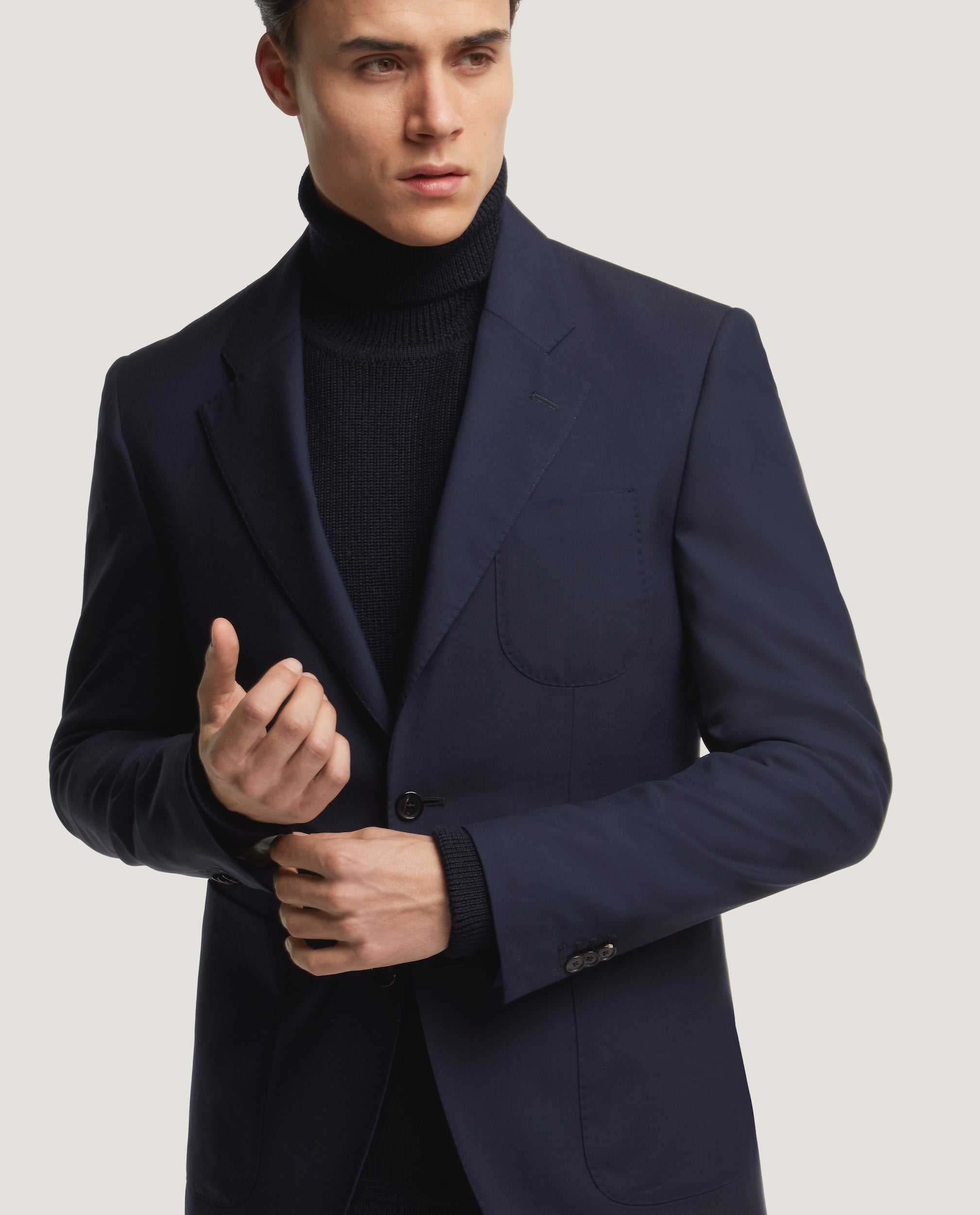 HAVRE Half lined blazer | Wool | Night Blue