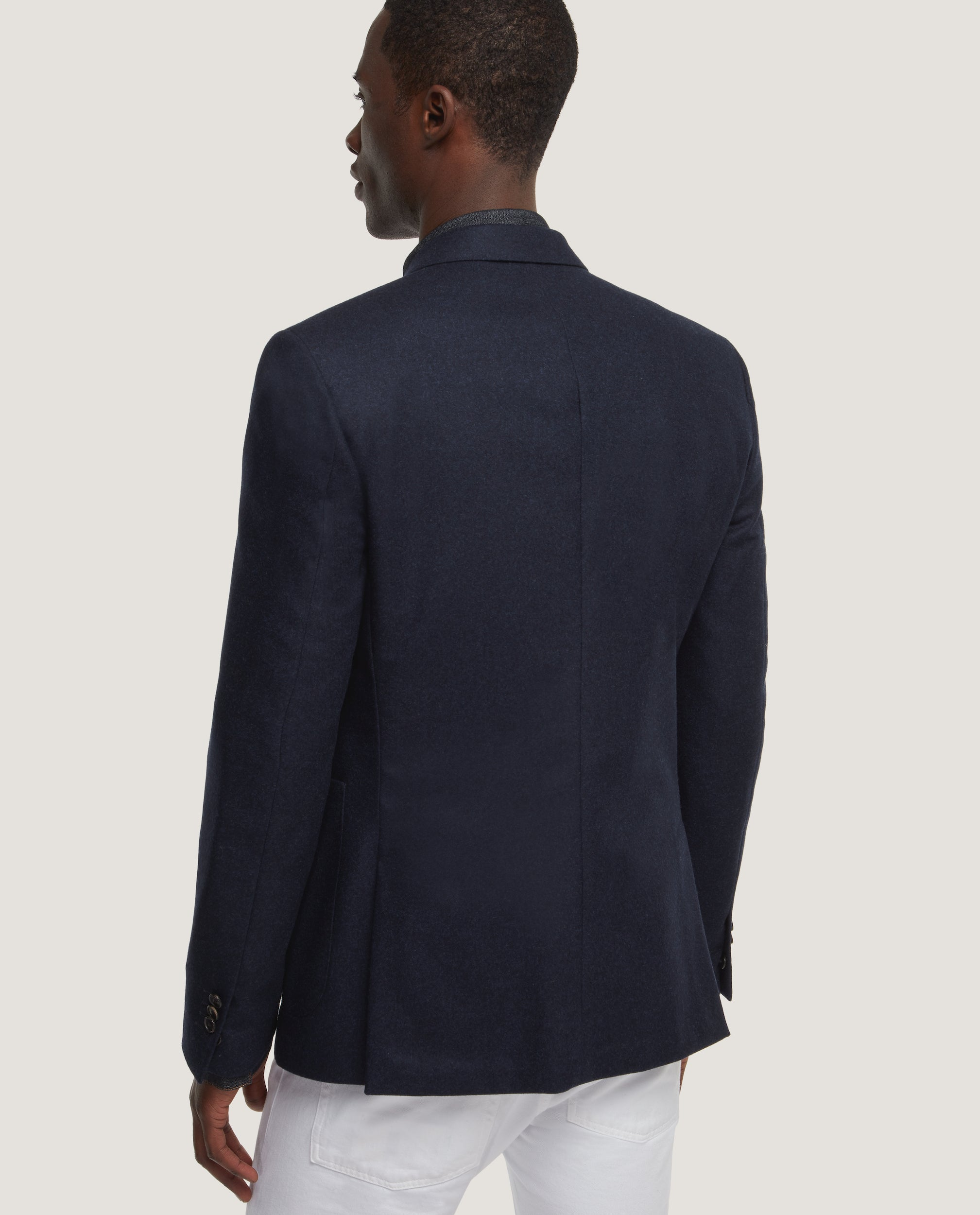 HAVRE Half lined blazer | Wool flannel | Night Blue