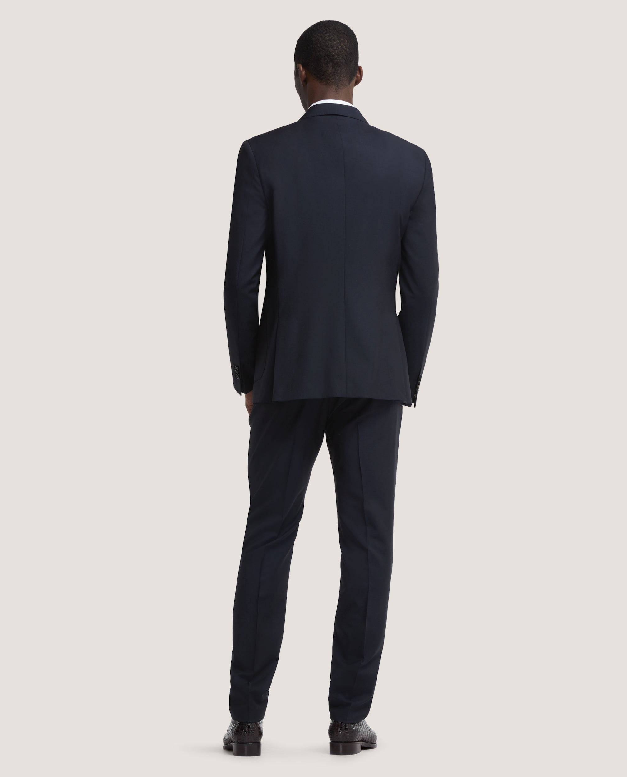 LLOYD Fully lined suit blazer | Wool-mohair blend | Night Blue