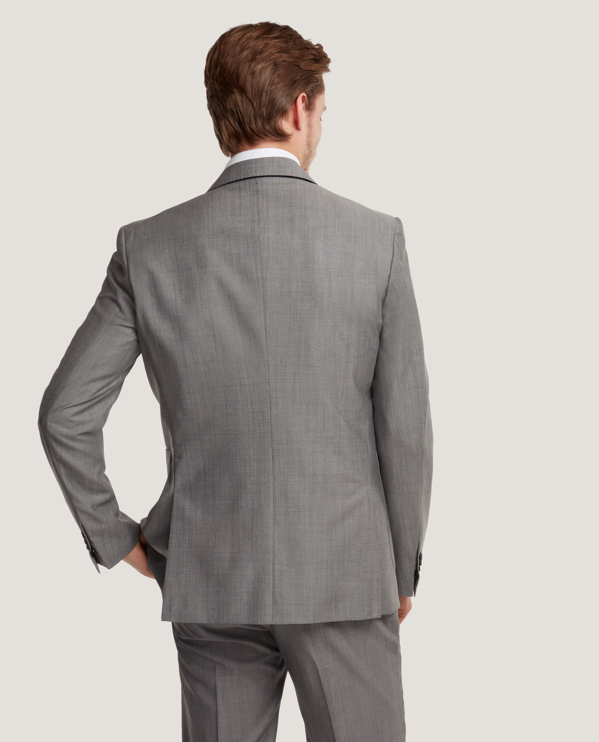 LLORO Single breasted peak lapel suit | Light Grey