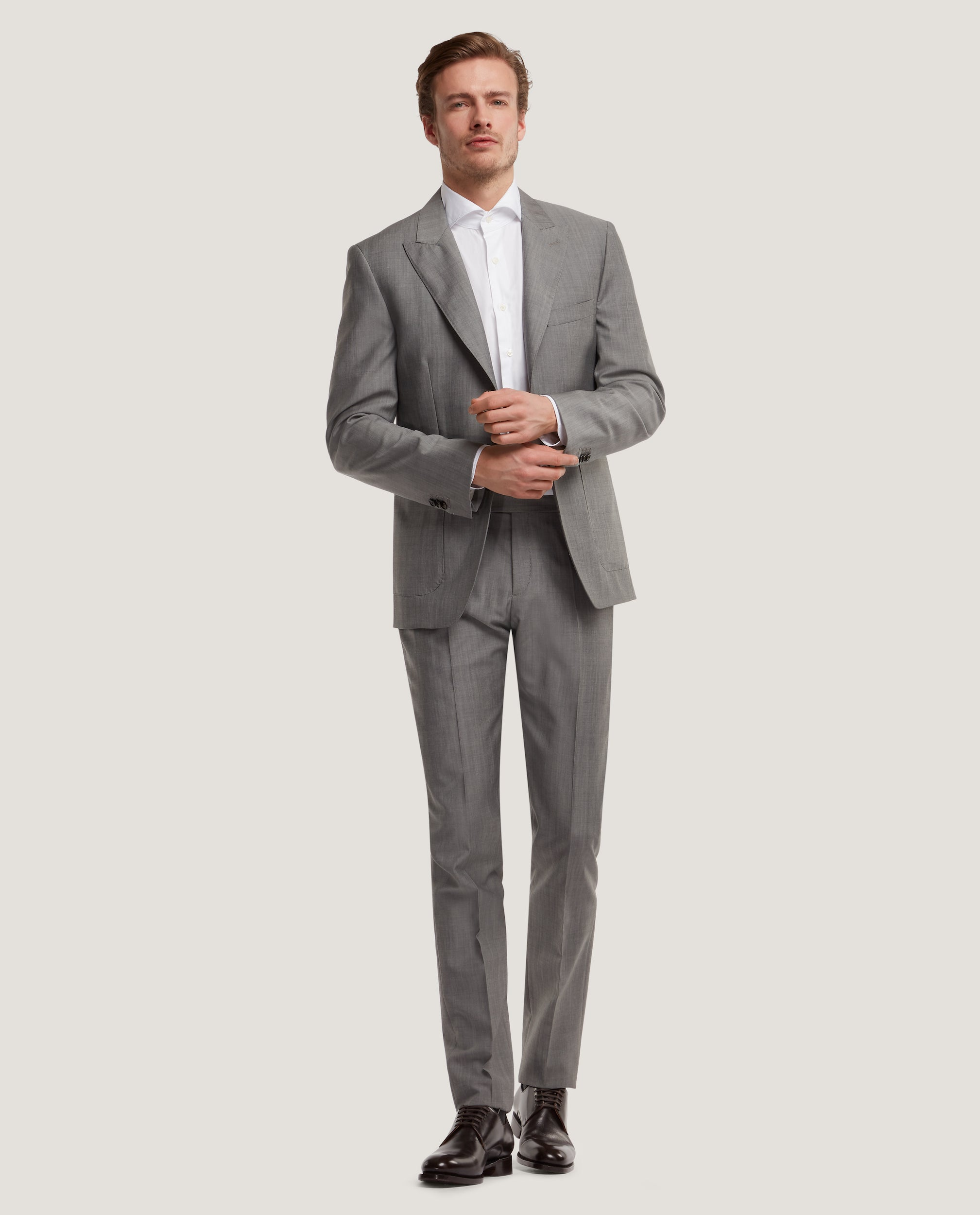 LLOYD Fully lined suit blazer | Wool-mohair blend | Light Grey