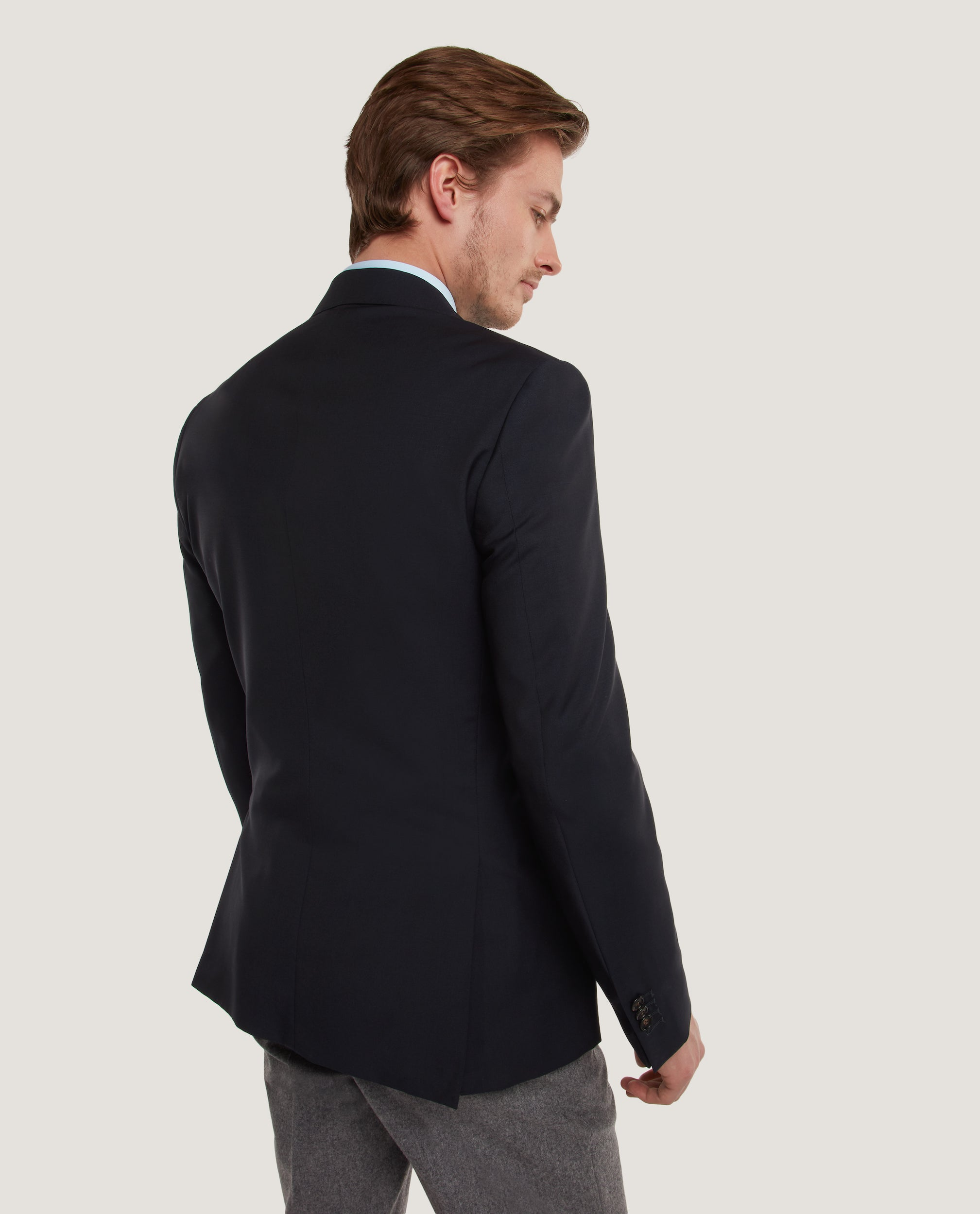 NESS Fully lined blazer | Wool | Night Blue