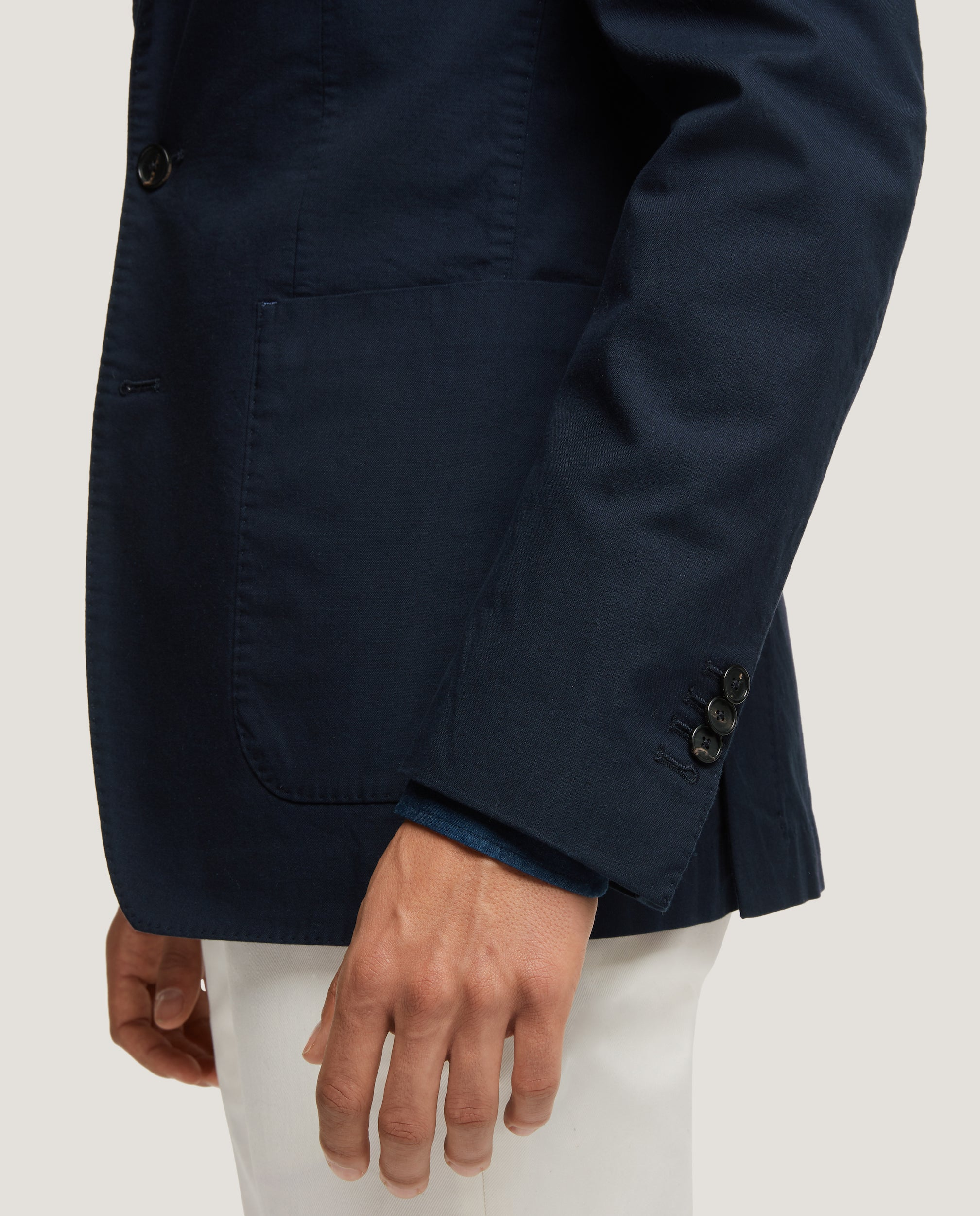ROSS Unstructured blazer | Premium cotton | Night Blue