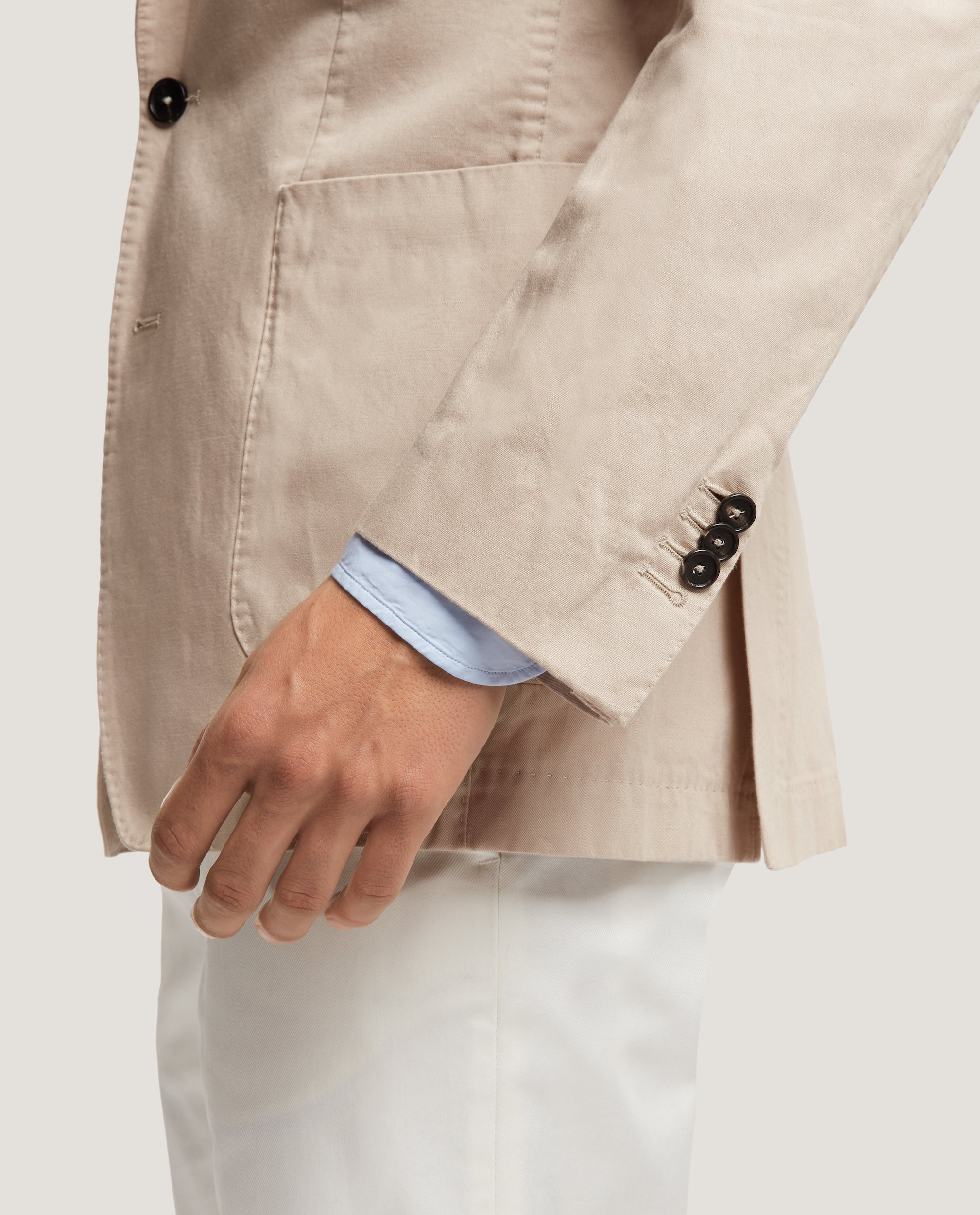 ROSS Unstructured blazer | Cotton Linen | Sand