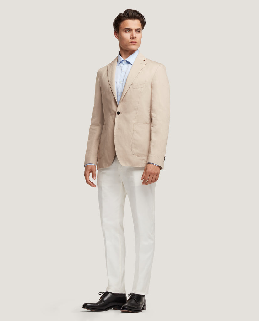 ROSS Unstructured blazer | Cotton Linen | Sand by Salle Privée