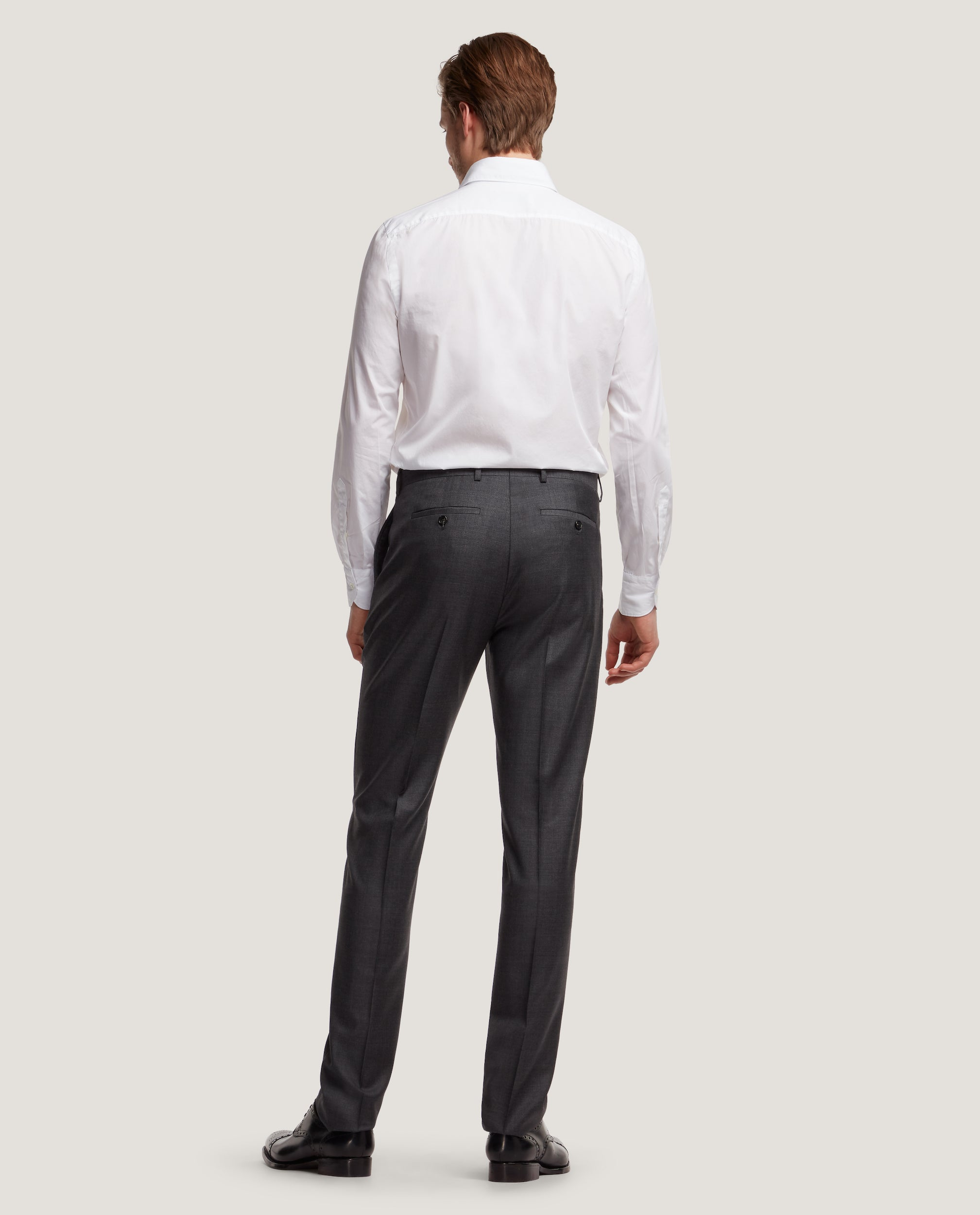 ROCCO Suit trousers | Wool-mohair blend | Dark Grey