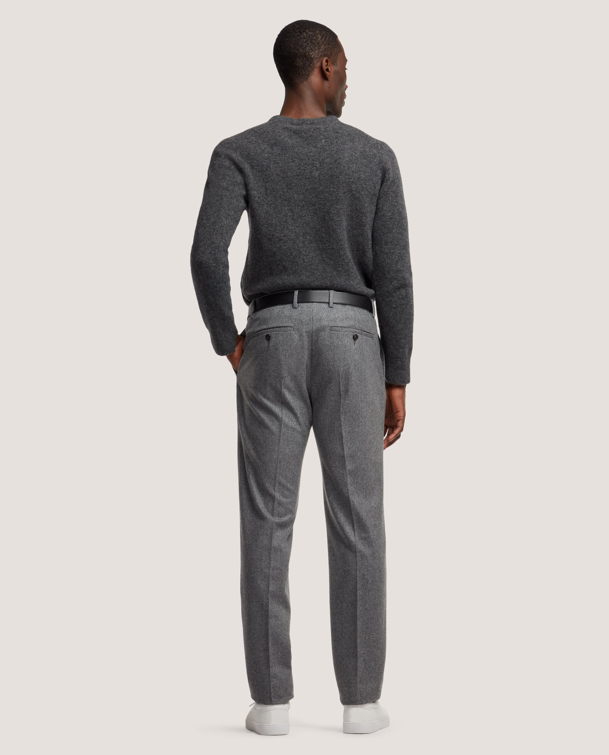 ROCCO Suit trousers | Wool flannel | Antracite