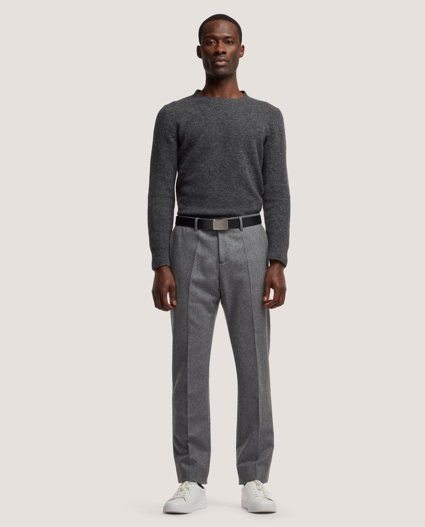 ROCCO Suit trousers | Wool flannel | Antracite by Salle Privée