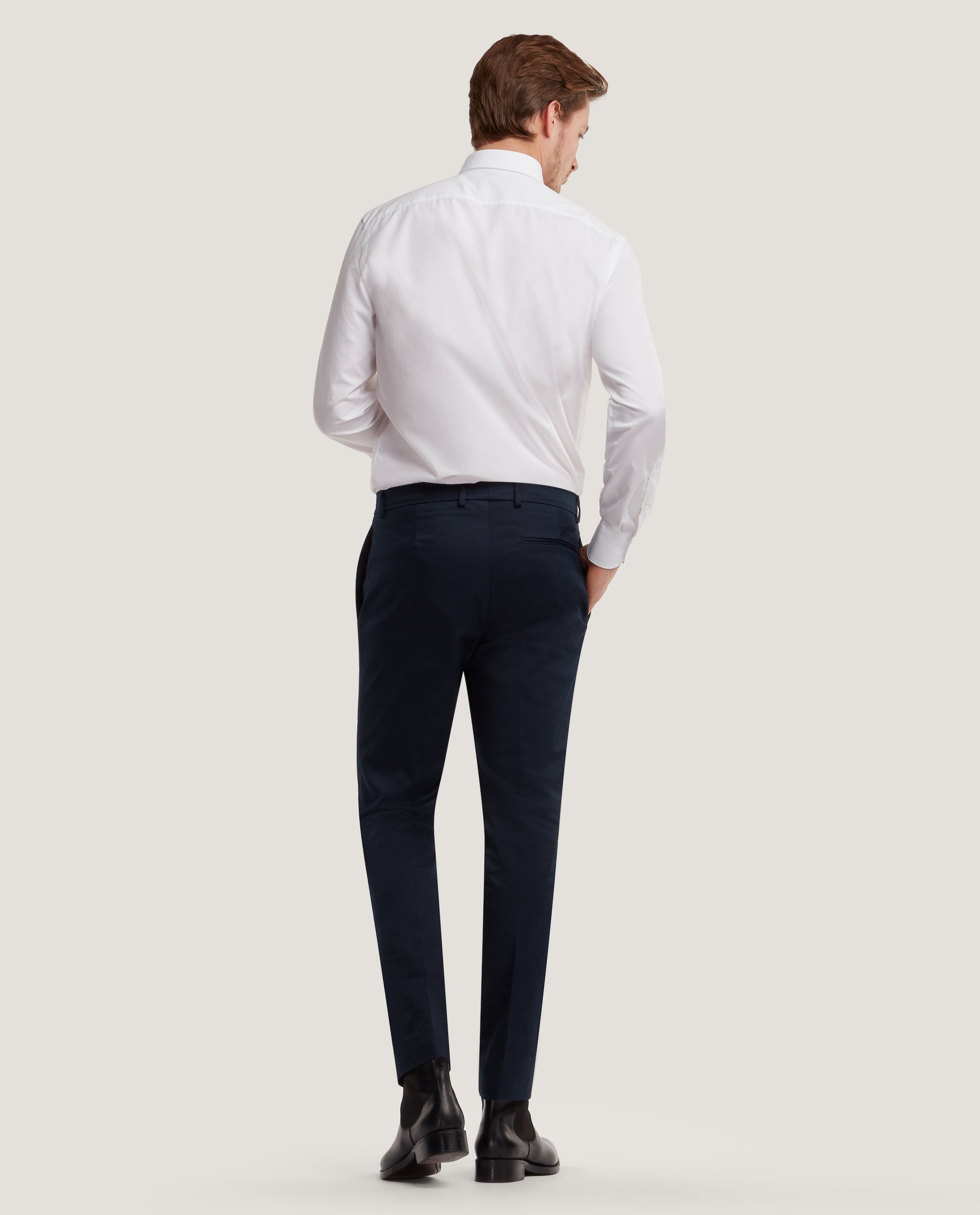 CASS Chino trousers | Slim fit | Cotton twill | Night Blue