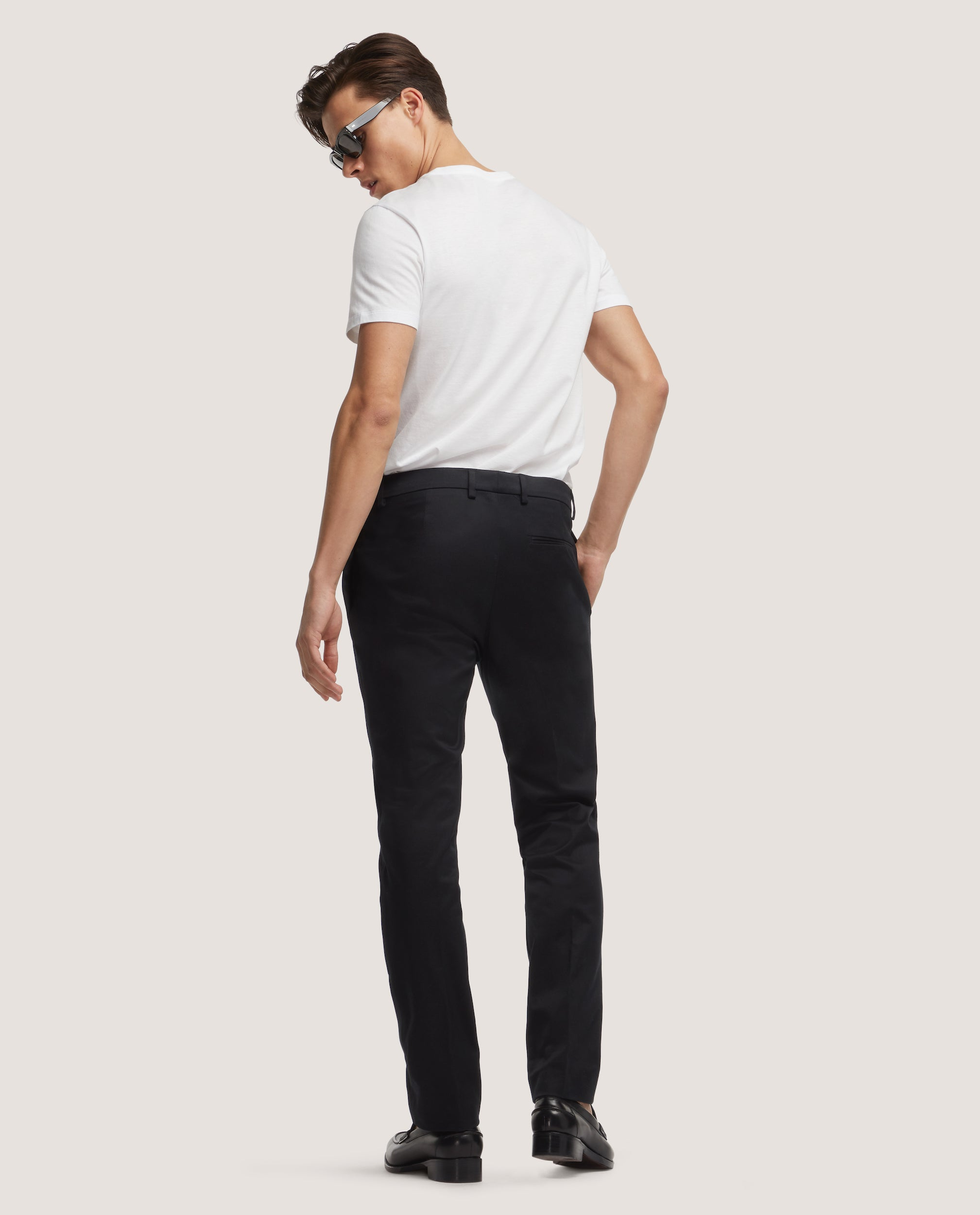 CASS Chino trousers | Slim fit | Cotton twill | Black