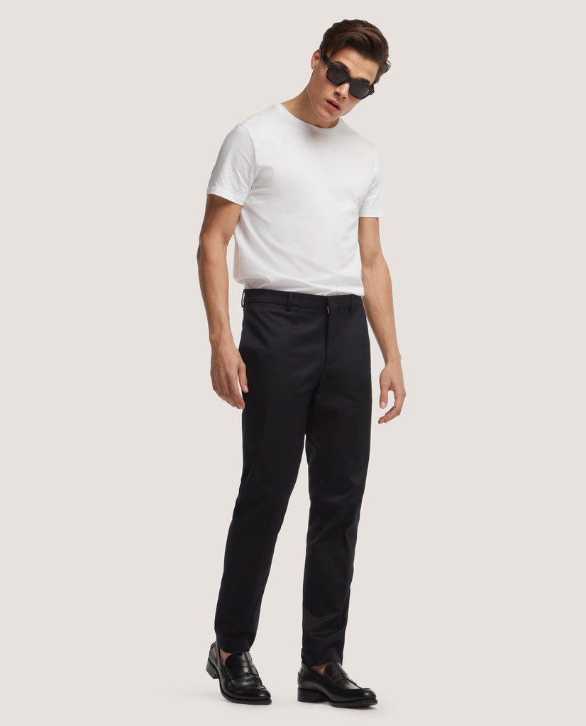 CASS Chino trousers | Slim fit | Cotton twill | Black by Salle Privée