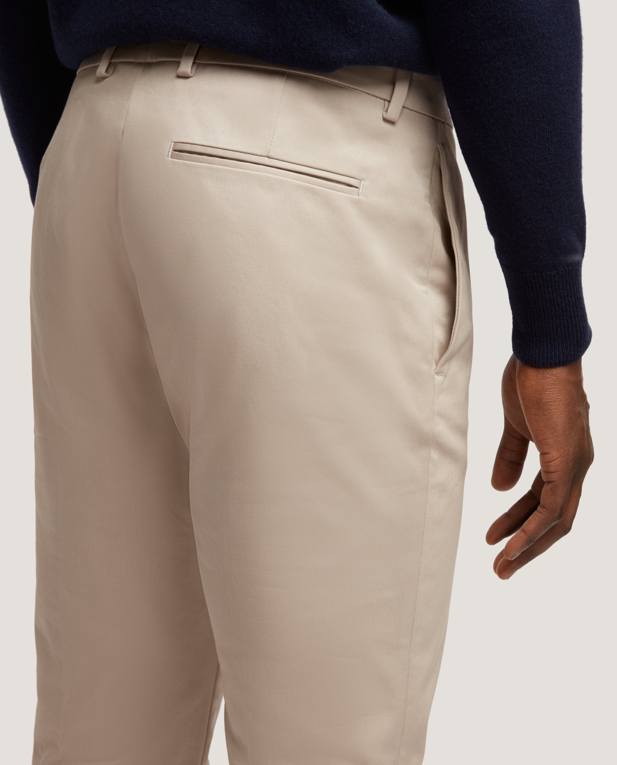 CASS Chino trousers | Slim fit | Cotton twill | Pebble