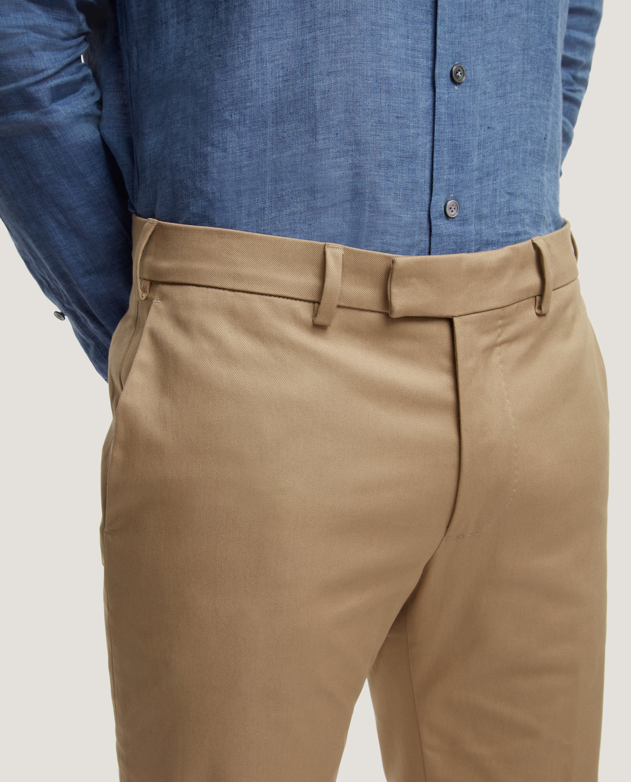 GEHRY Chino trousers | Slim fit | Cotton twill | Khaki