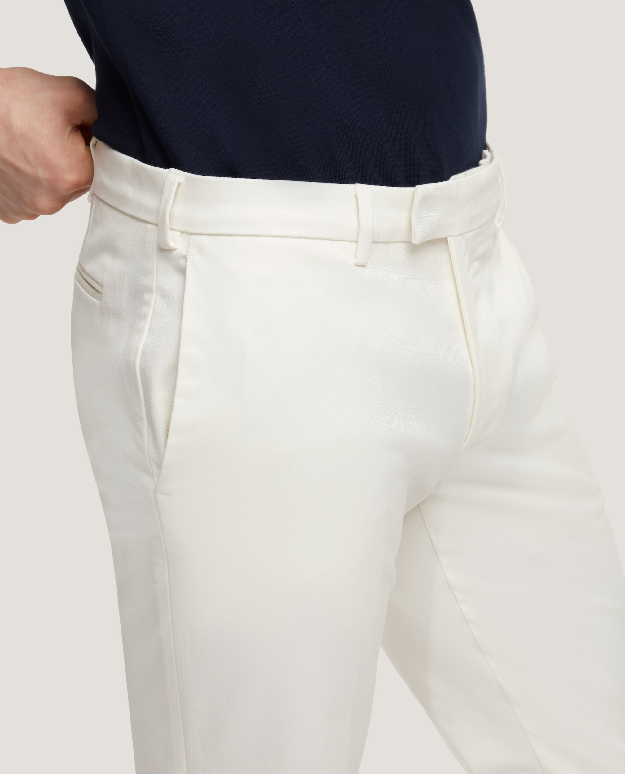 GEHRY Chino trousers | Slim fit | Cotton twill | Ivory