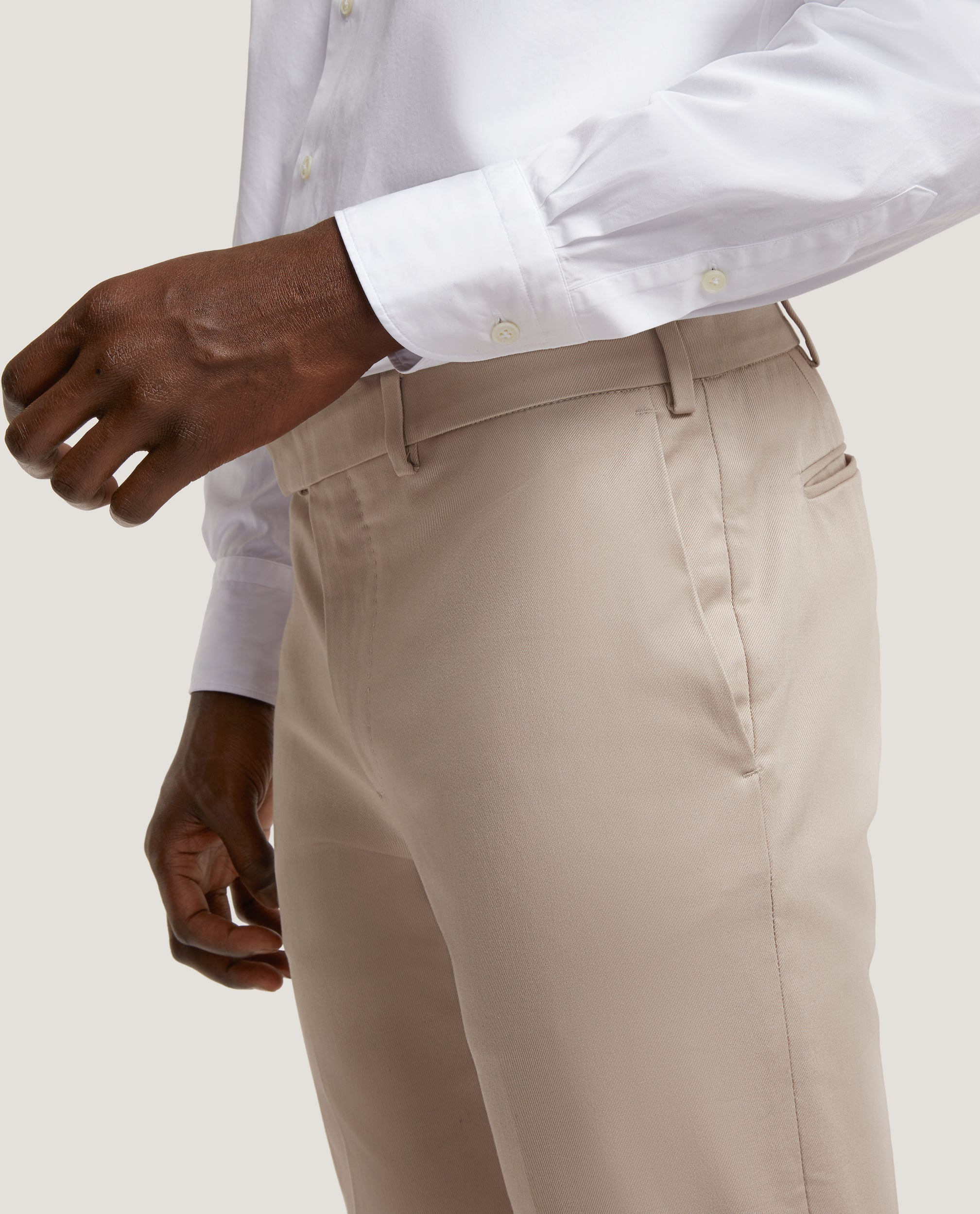 GEHRY Chino trousers | Slim fit | Cotton twill | Pebble