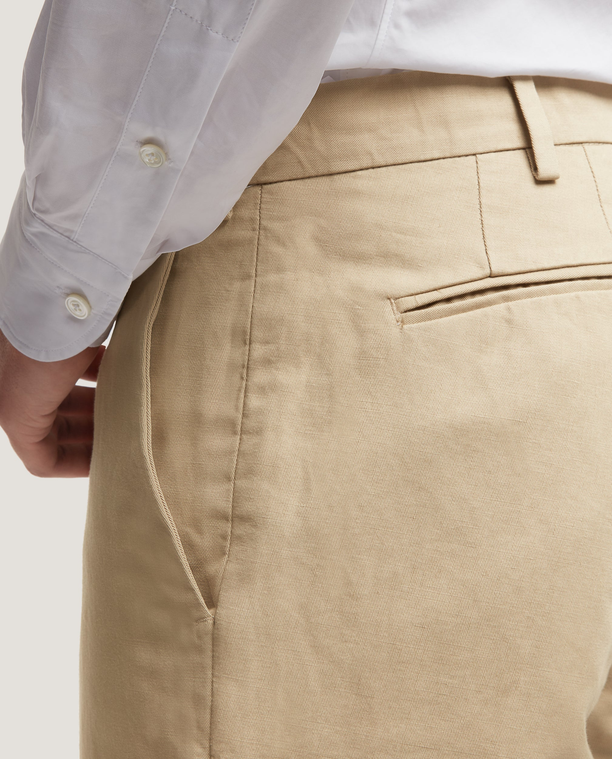 GEHRY Chino trousers | Slim fit | Cotton linen | Beige