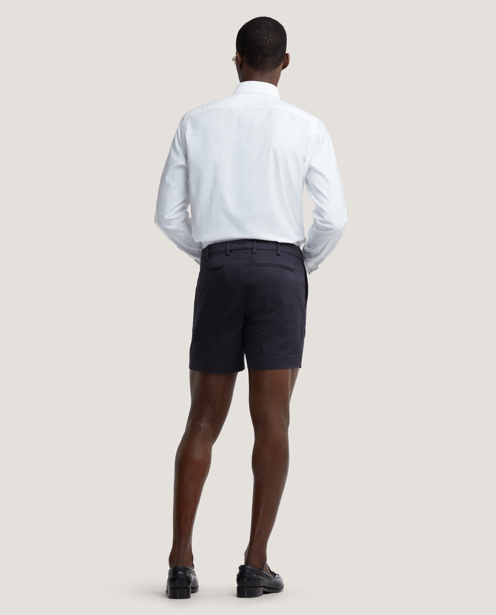 FLORIAN Chino shorts | Short length | Cotton twill | Night Blue