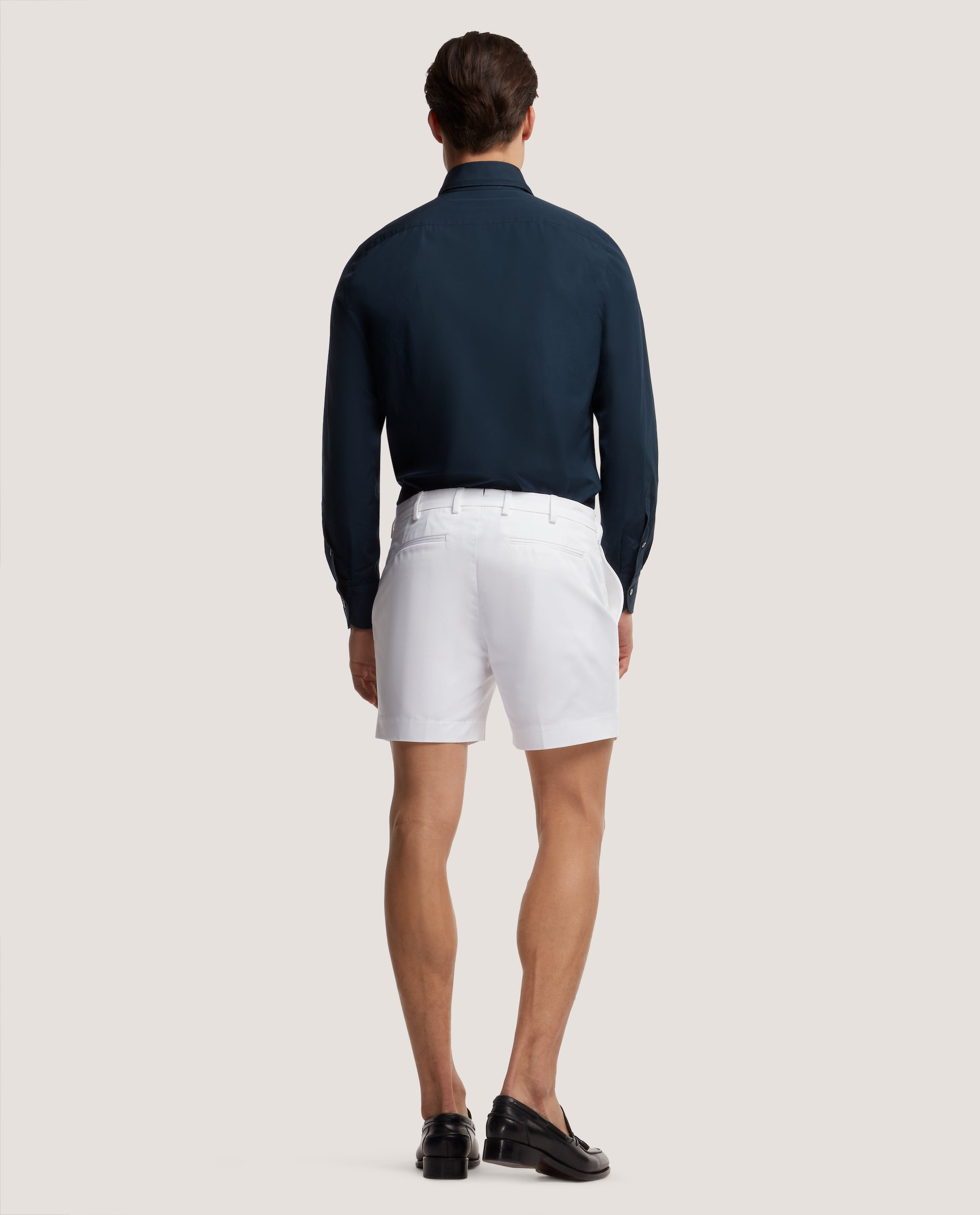 FLORIAN Chino shorts | Short length | Cotton twill | White