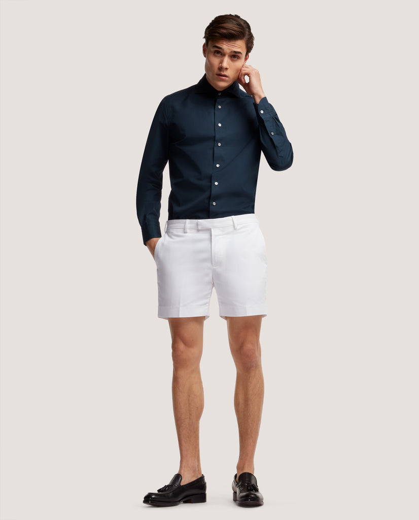 FLORIAN Chino shorts | Short length | Cotton twill | White by Salle Privée
