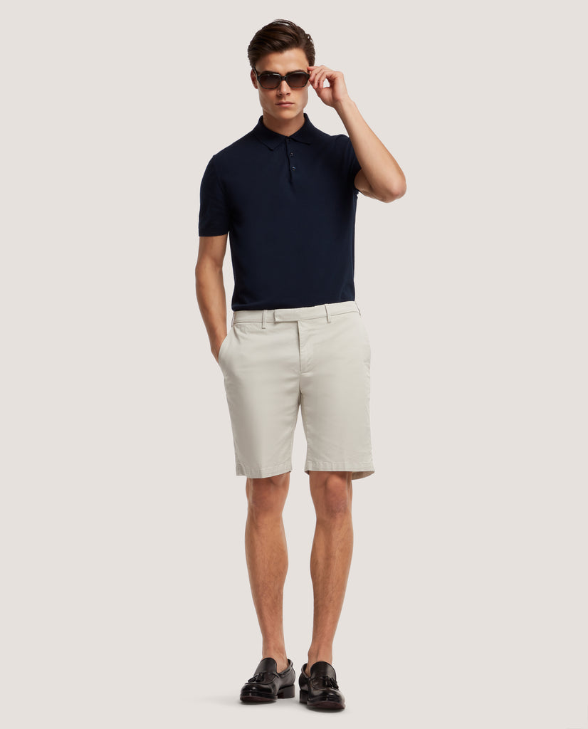 STEVEN Chino Shorts | Medium length | Light cotton | Stone by Salle Privée