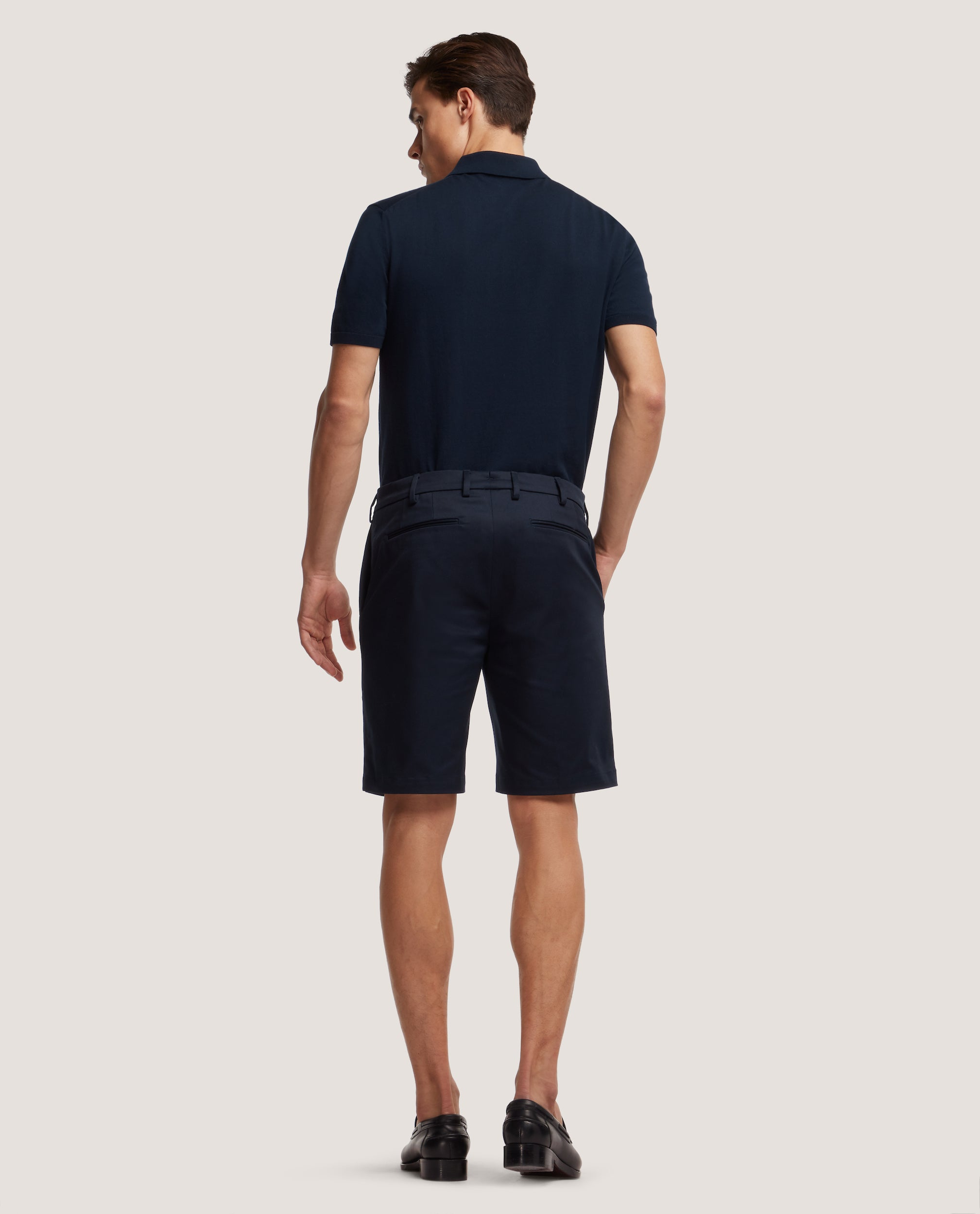 STEVEN Chino shorts | Medium length | Light cotton | Night Blue