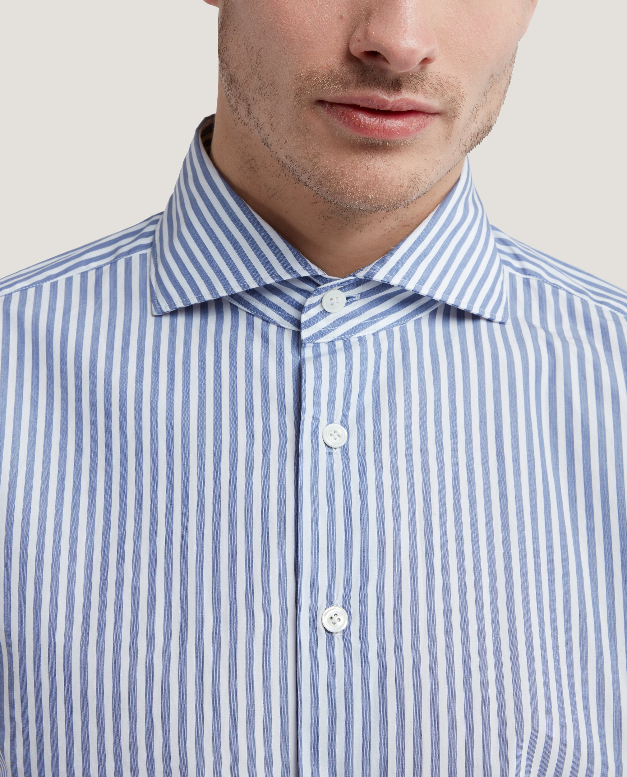 EVRON Slim fit shirt | Poplin stripe