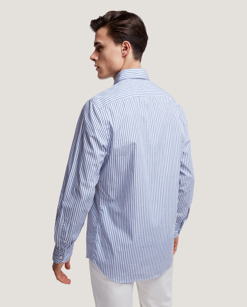 CURTIS Slim fit shirt | Poplin stripe by Salle Privée