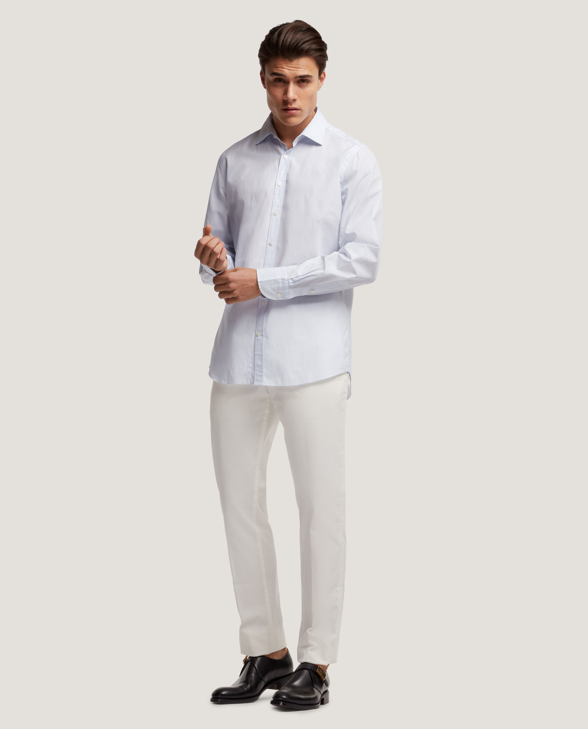CURTIS Slim fit shirt | Light poplin stripe