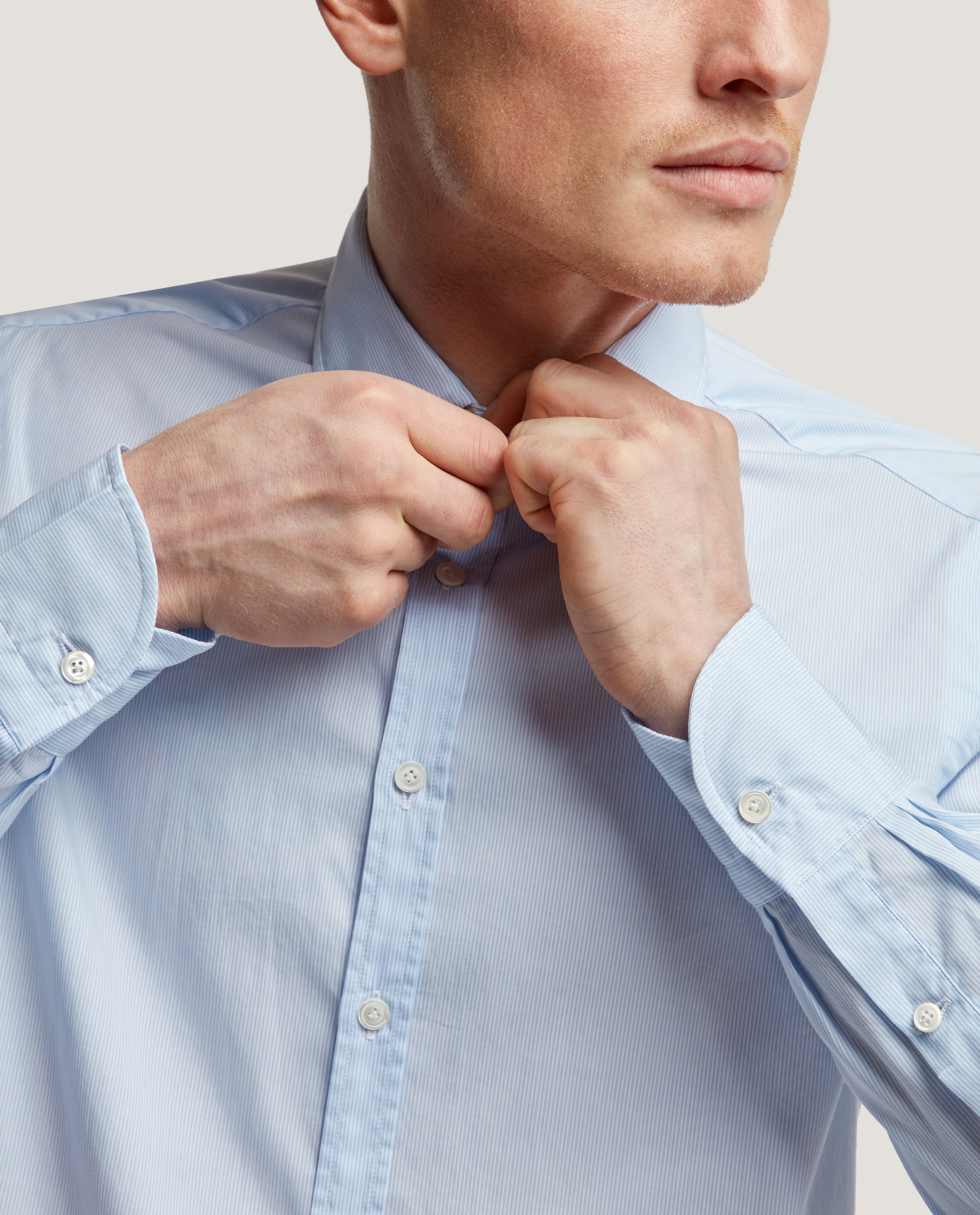 CURTIS Slim fit shirt | Poplin stripe