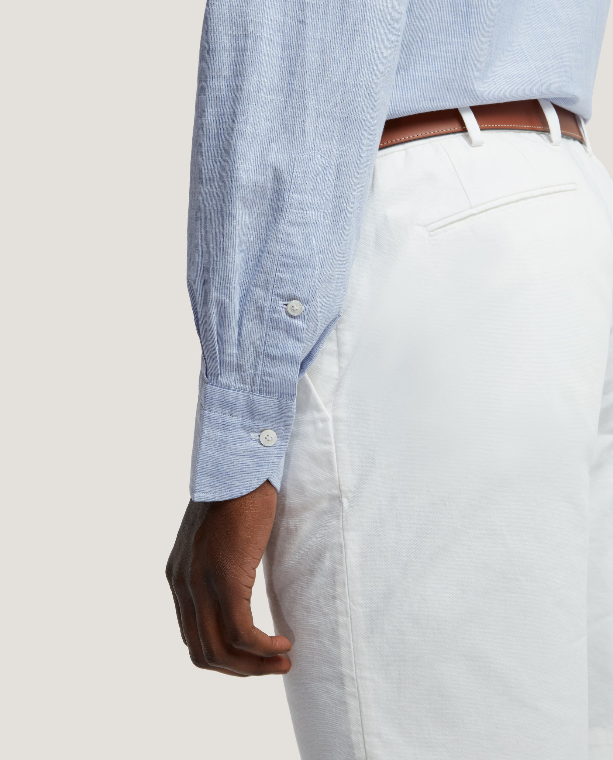 DALE Slim fit shirt | Chambray Stripe