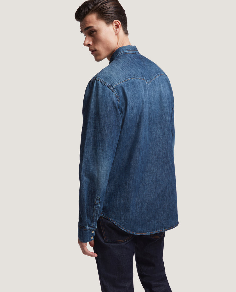 ROHE Western denim shirt | Washed by Salle Privée