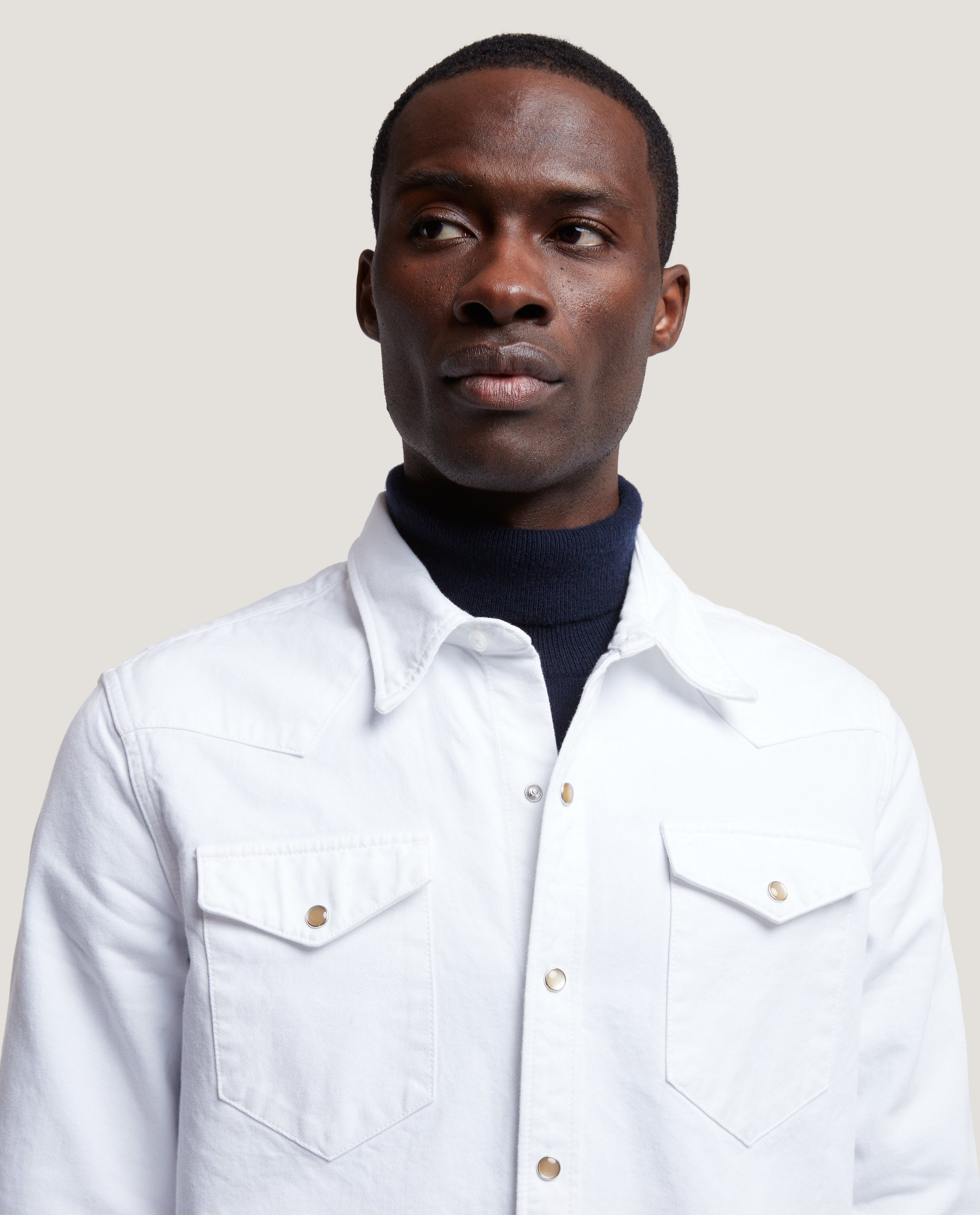 ROHE Western denim shirt | White selvedge