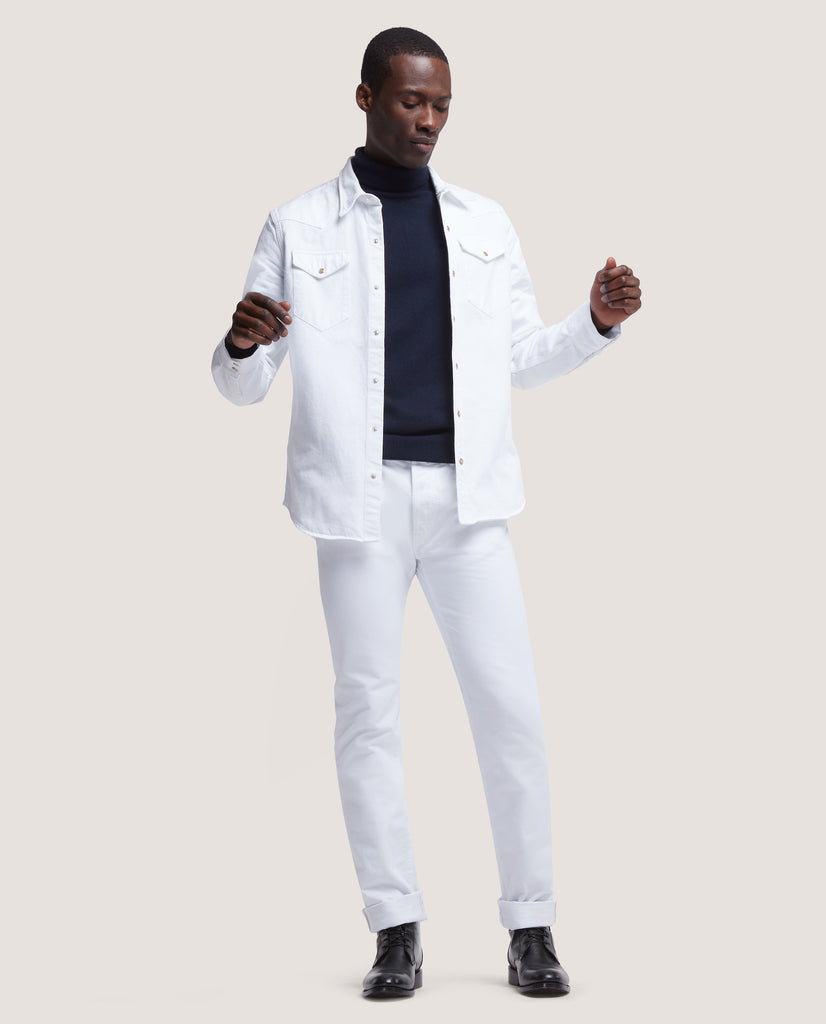 ROHE Western denim shirt | White selvedge by Salle Privée