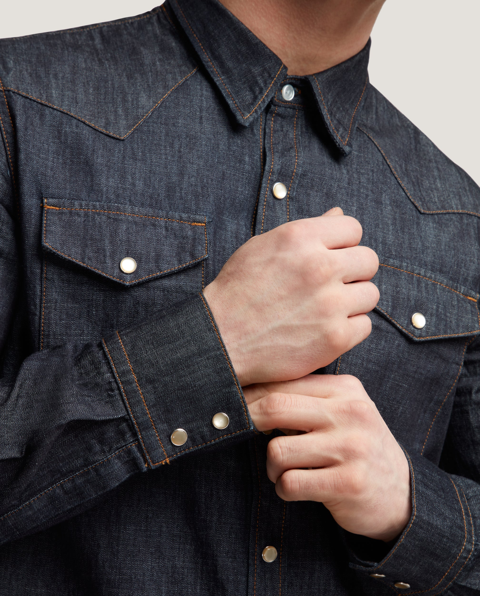 ROHE Western denim shirt | Raw selvedge
