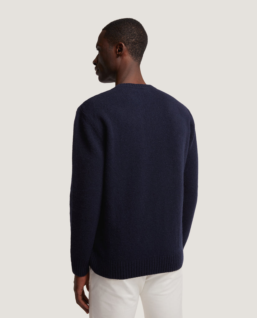 AREN Wool sweater | Night Blue by Salle Privée
