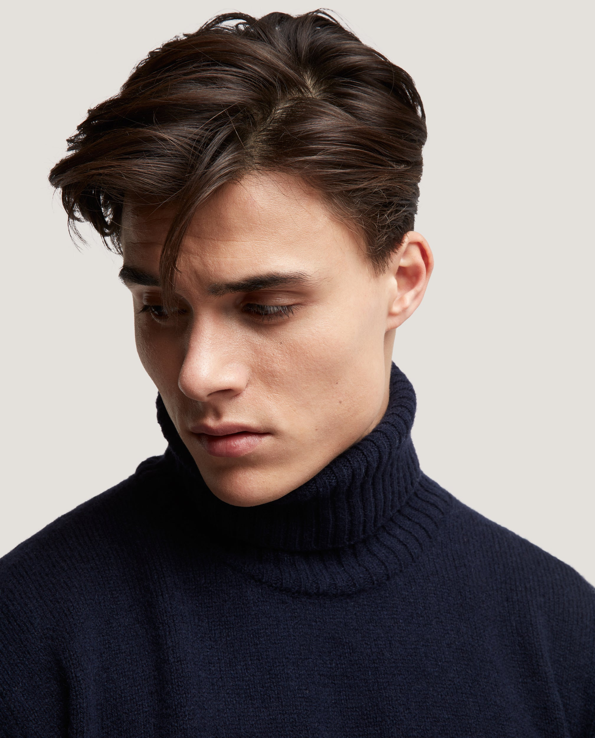 EINAR Wool rollneck sweater | Night Blue