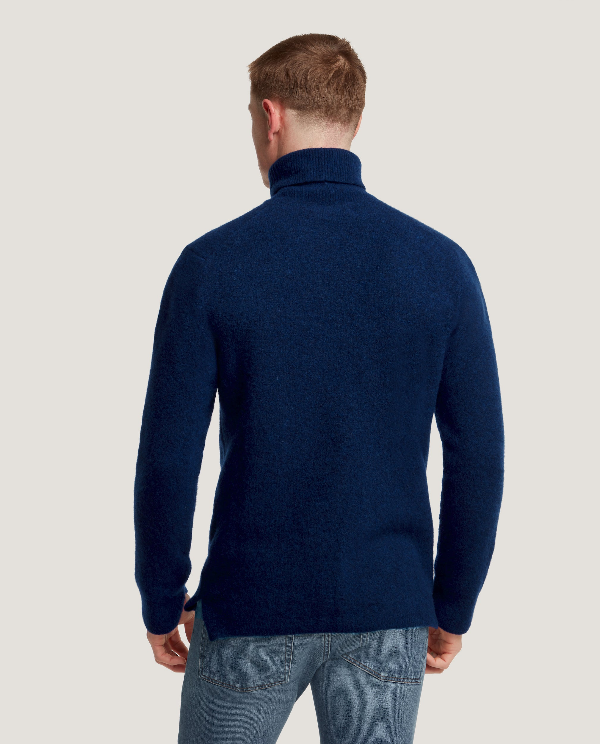 AIDEN Wool blend sweater | Cobalt Blue