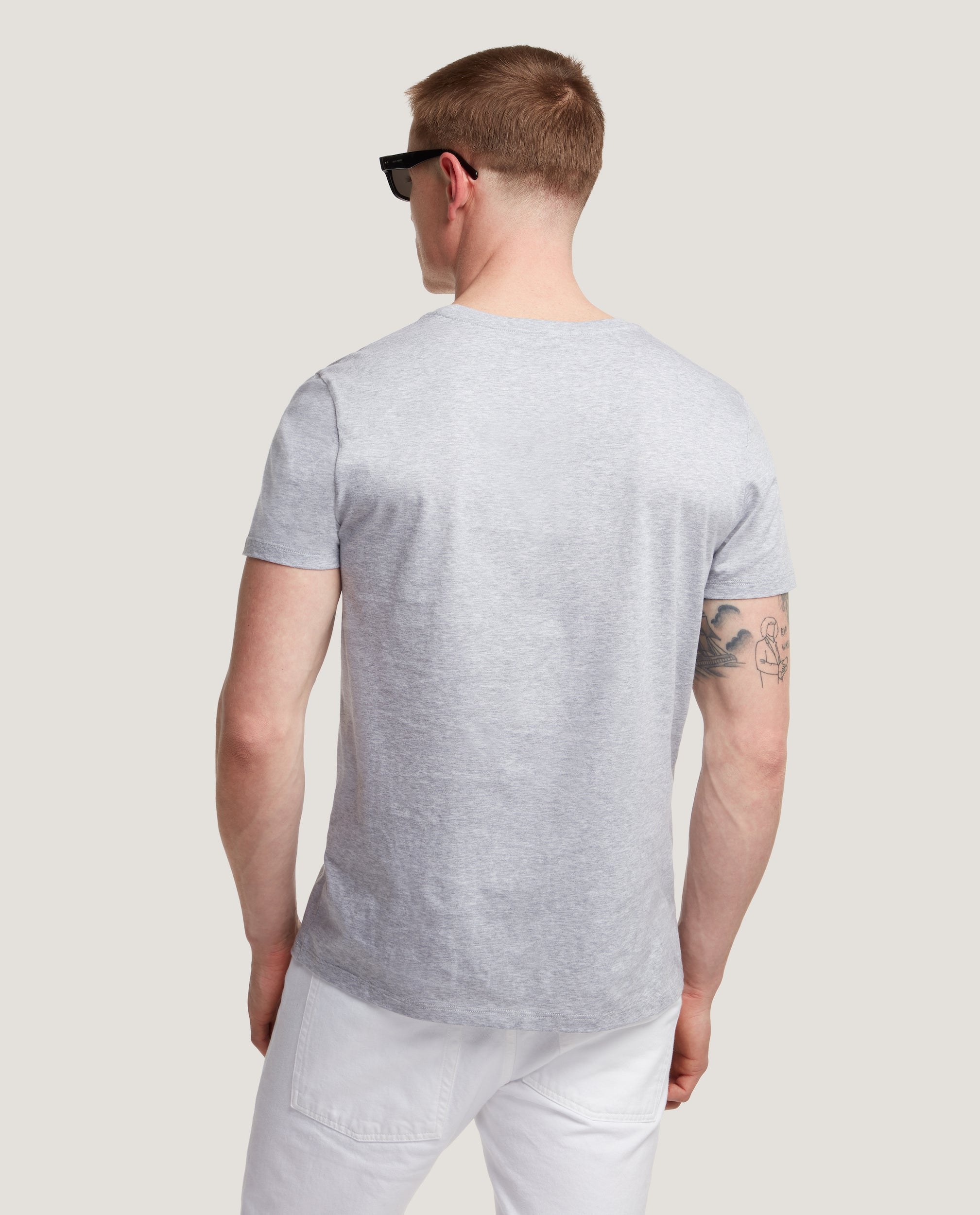 LOTHAR T-shirt | Cotton | Grey Melange