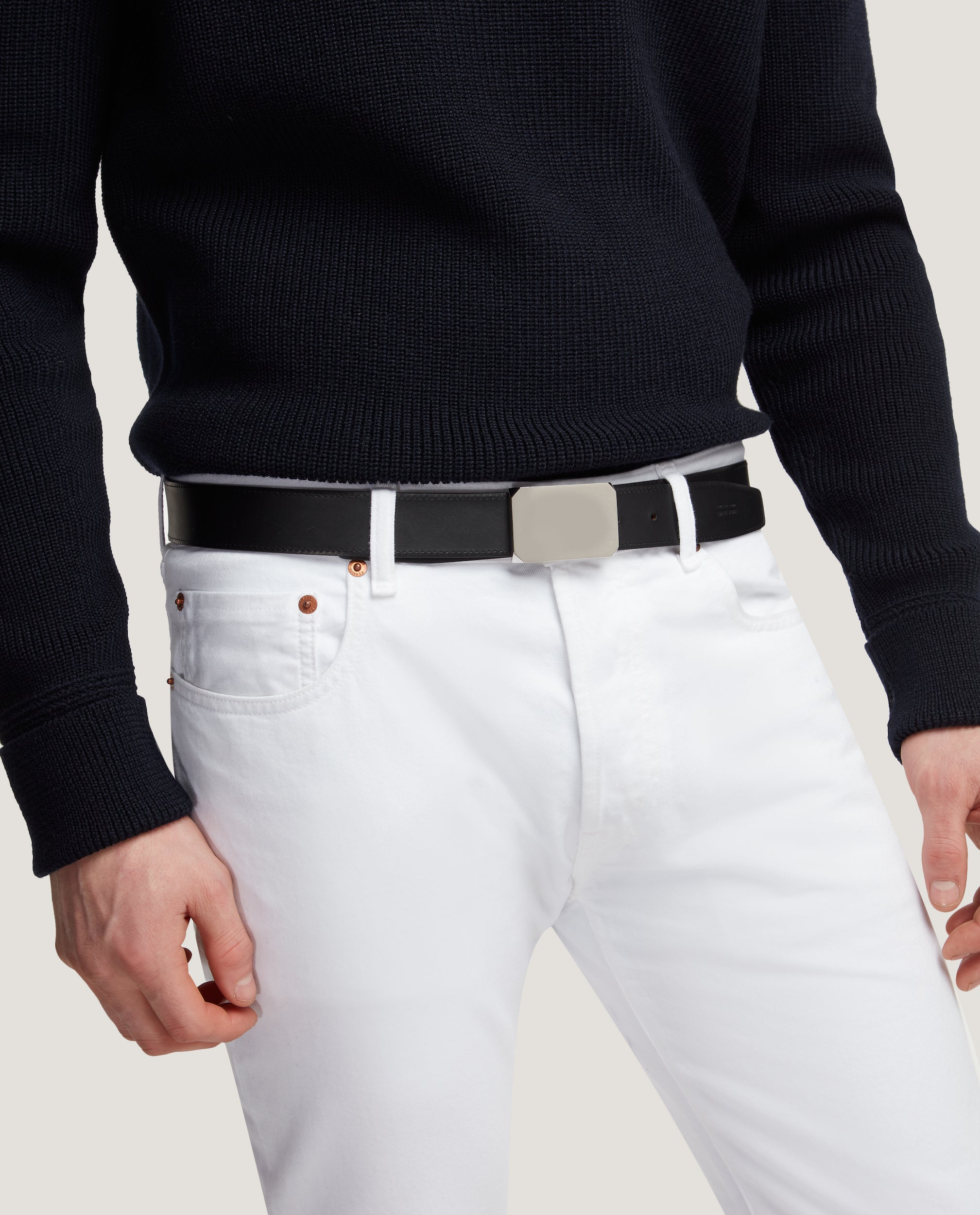 MILTON Reversible belt with detachable buckle