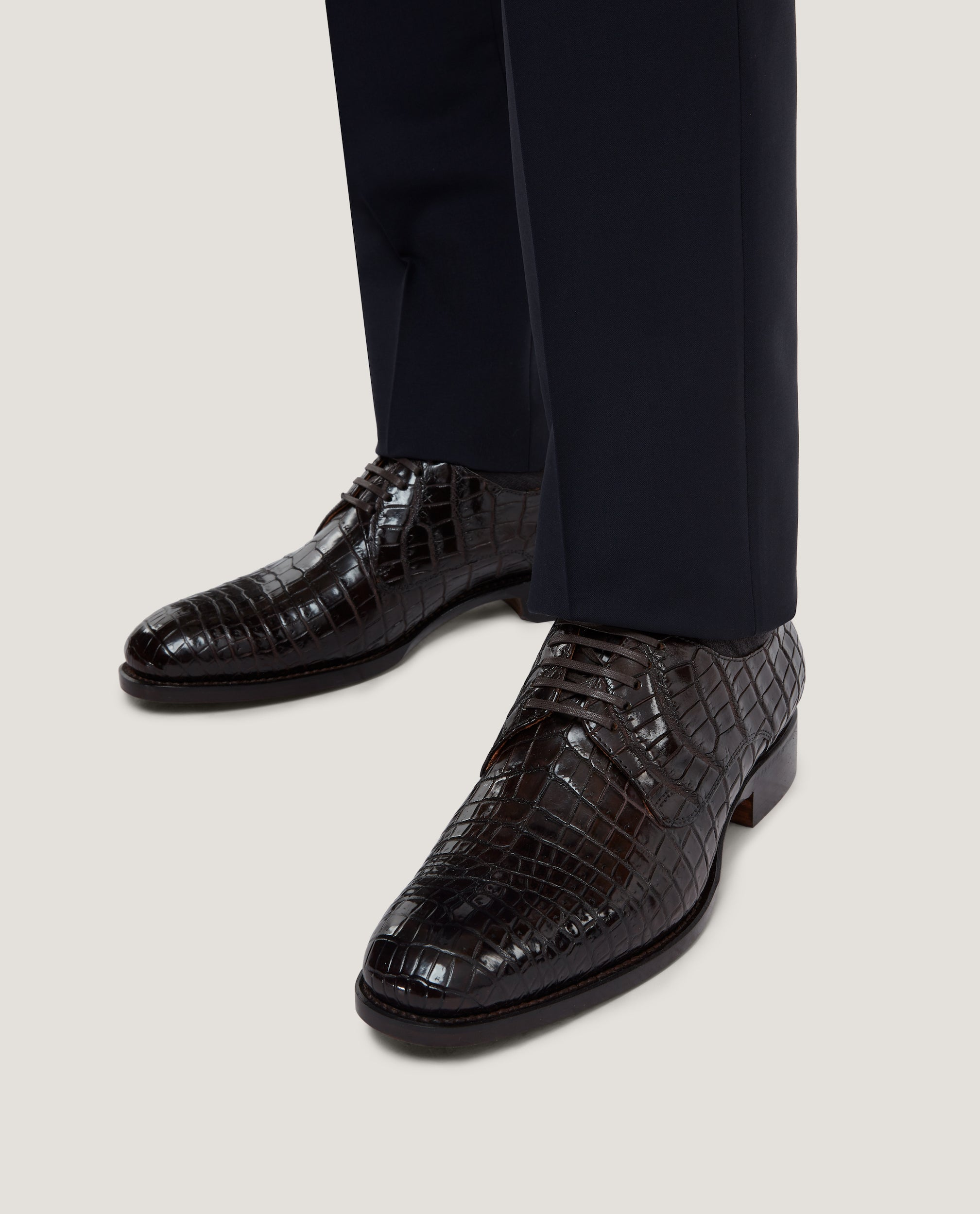 LOGAN Crocodile derby shoes