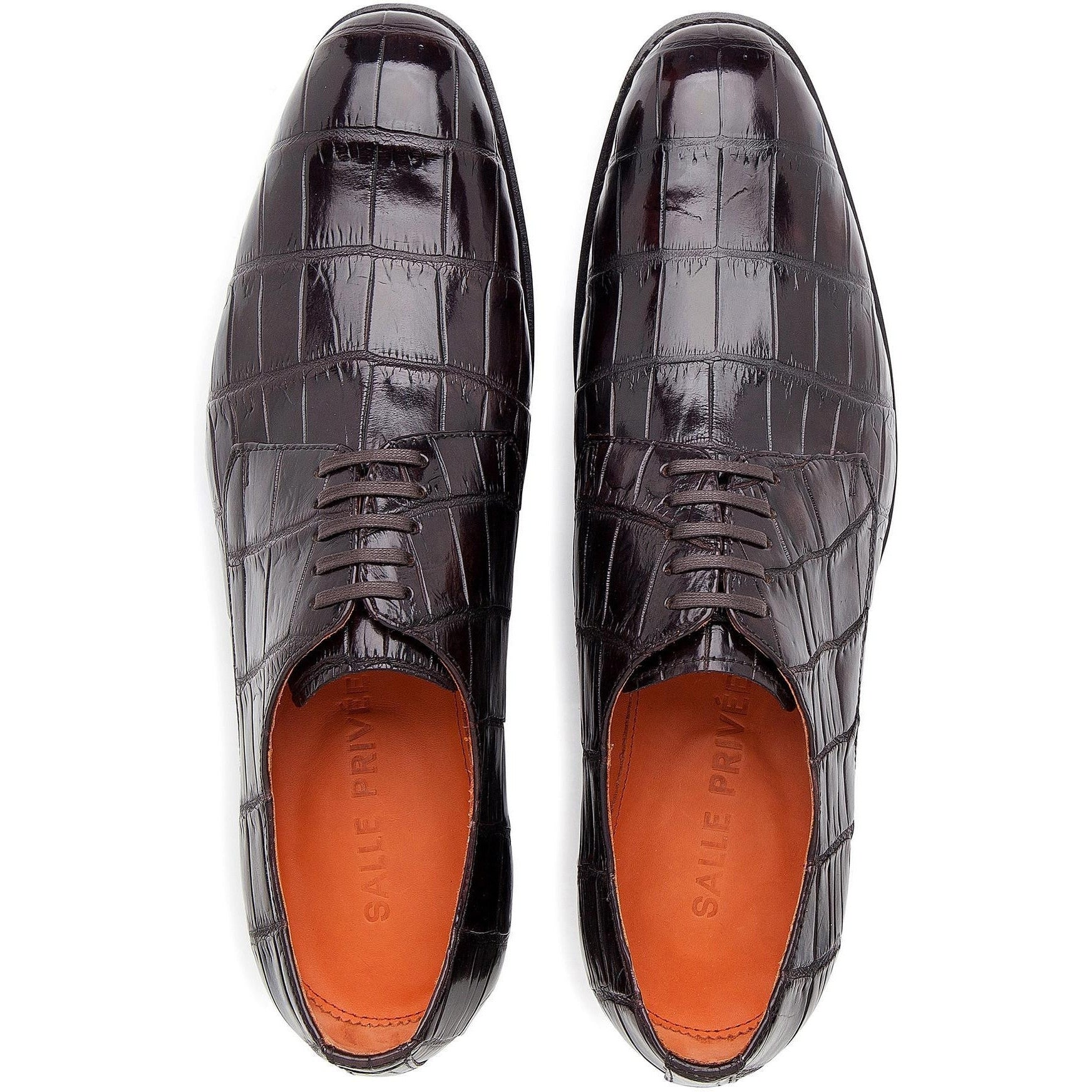 LOGAN crocodile derby shoes-SALLE PRIVÉE