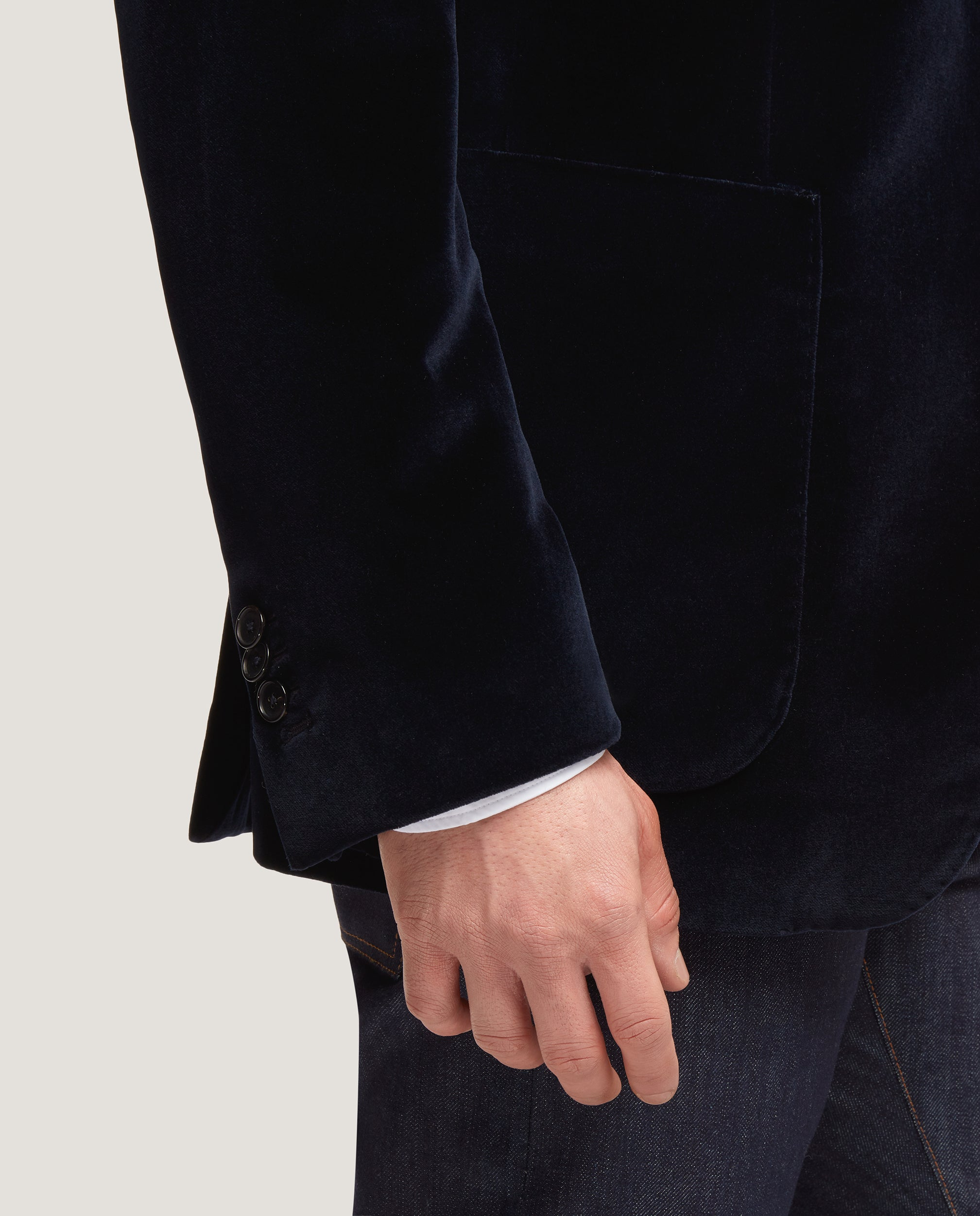 ESBEN Constructed Blazer | Velvet | Night Blue